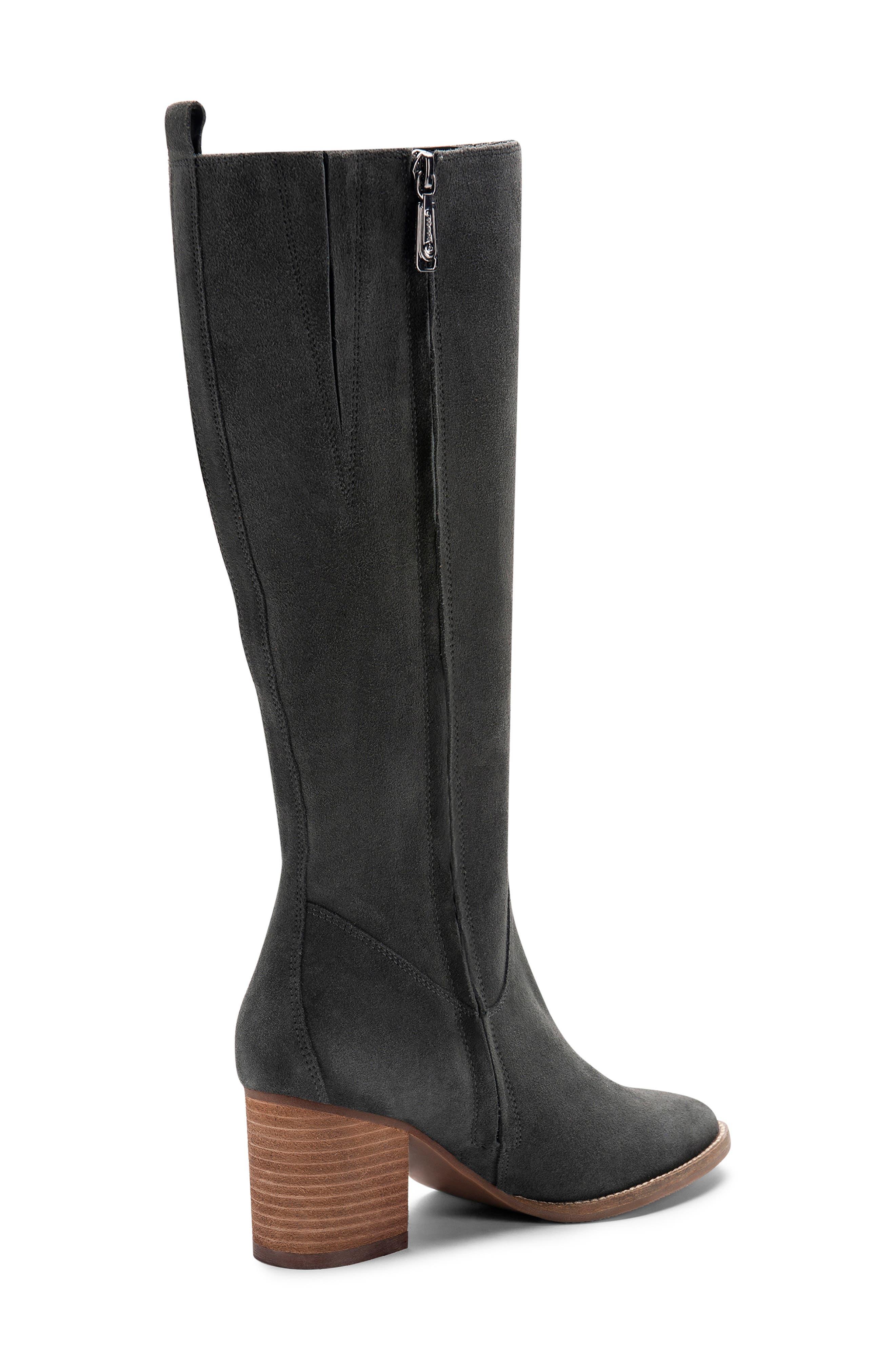 BLONDO, Nikki Waterproof Knee High Waterproof Boot, Alternate thumbnail 8, color, DARK GREY SUEDE