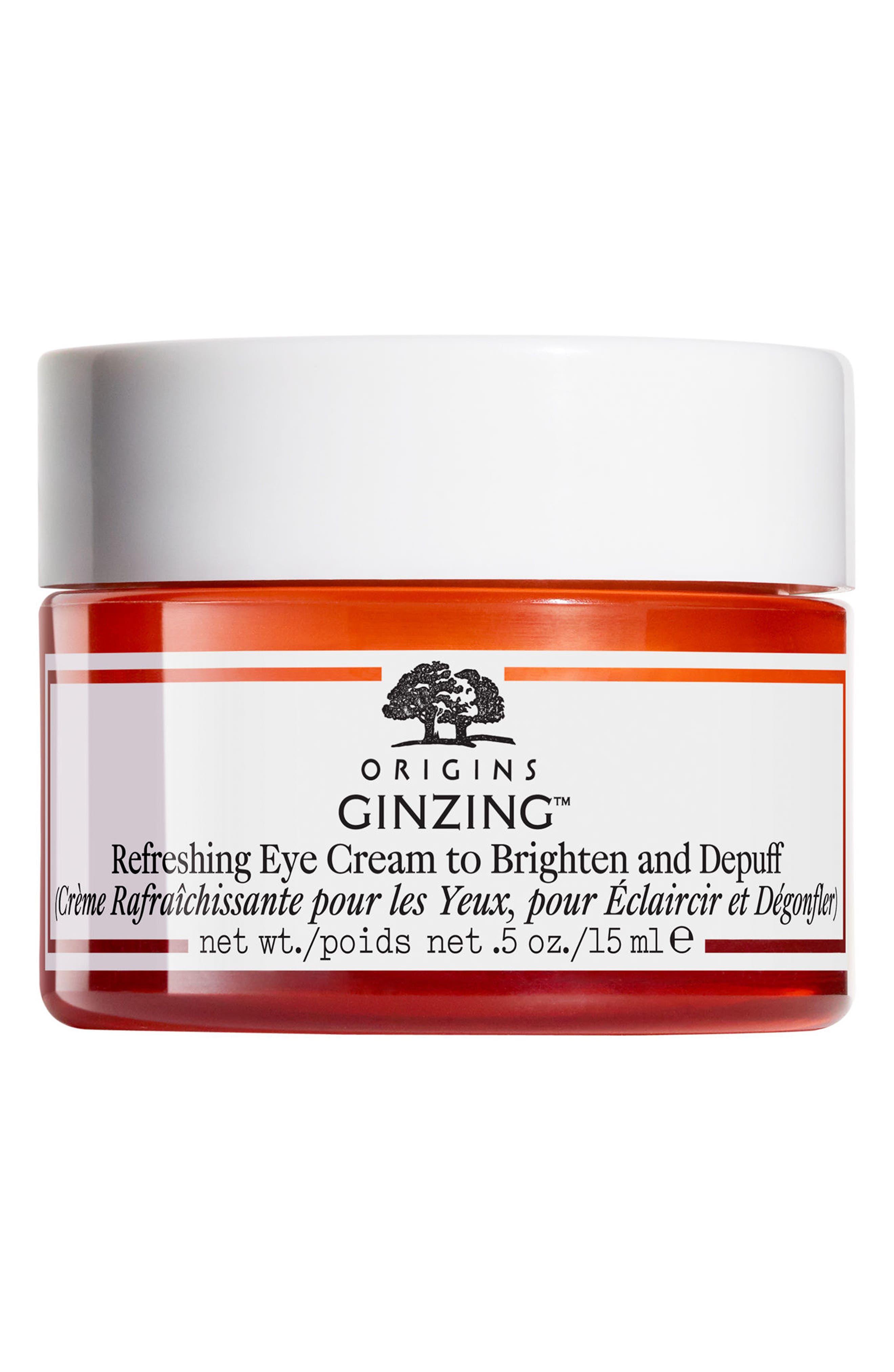 ORIGINS, GinZing<sup>™</sup> Refreshing Eye Cream to Brighten & Depuff, Main thumbnail 1, color, NO COLOR
