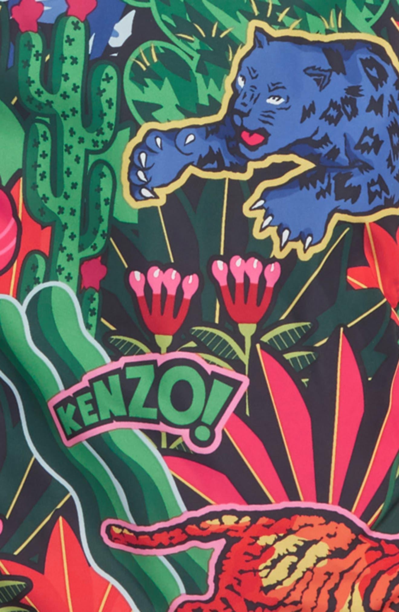 KENZO, Reversible Puffer Jacket, Alternate thumbnail 3, color, NAVY