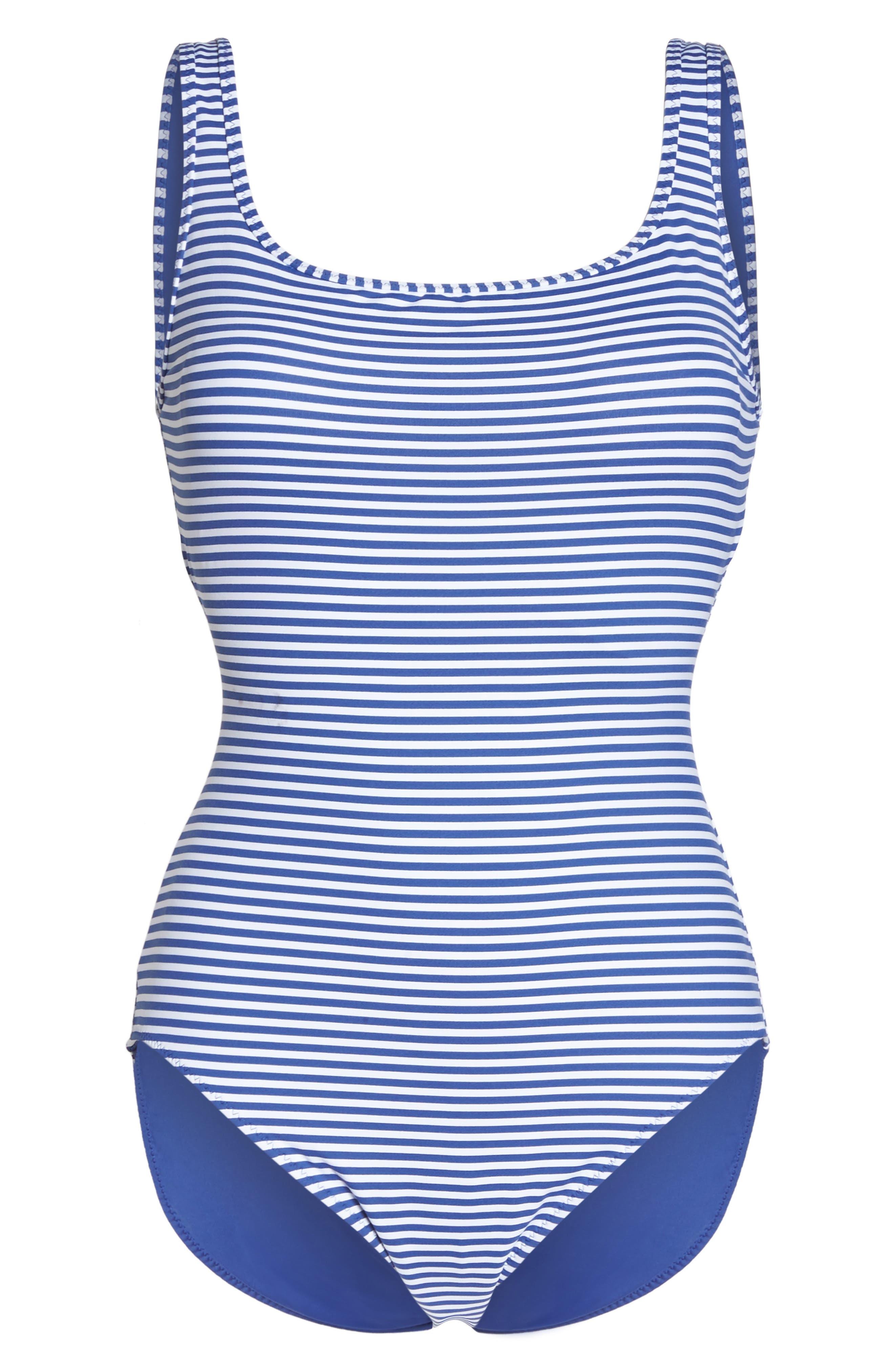 TOMMY BAHAMA, Reversible One-Piece Swimsuit, Alternate thumbnail 7, color, DARK SANIBEL