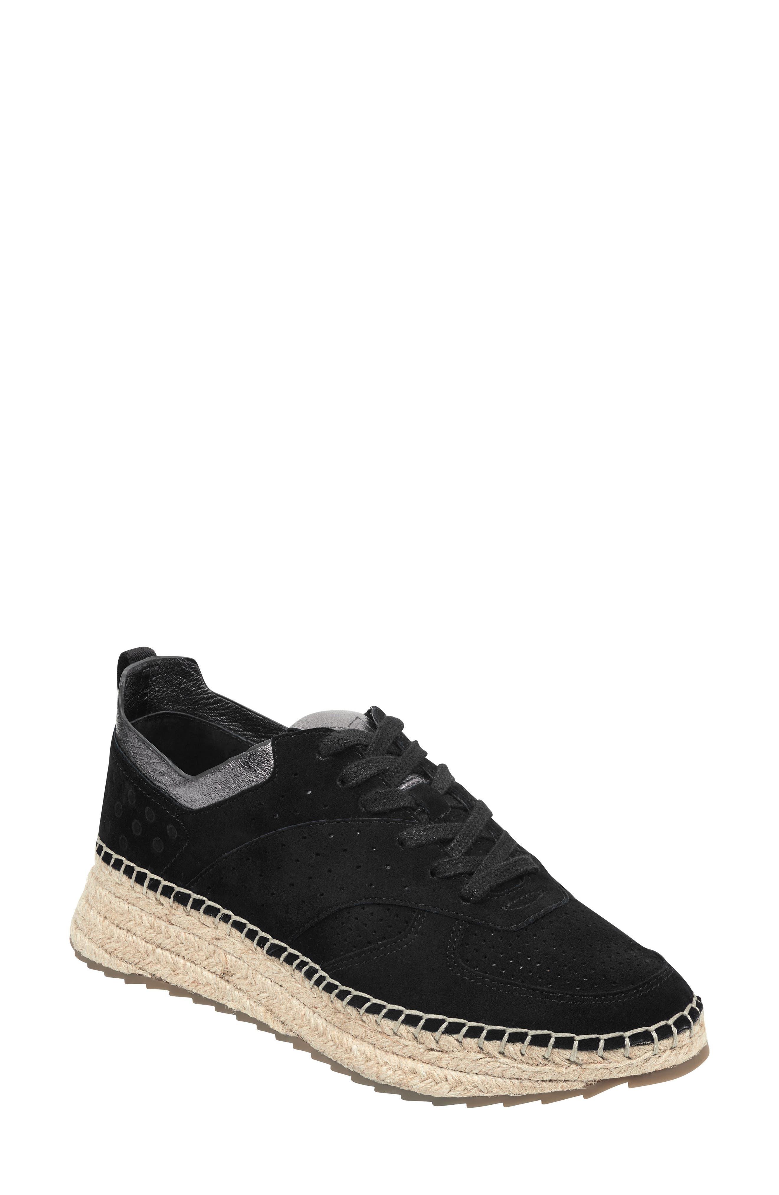 MARC FISHER LTD, Julio Sneaker, Main thumbnail 1, color, BLACK SUEDE