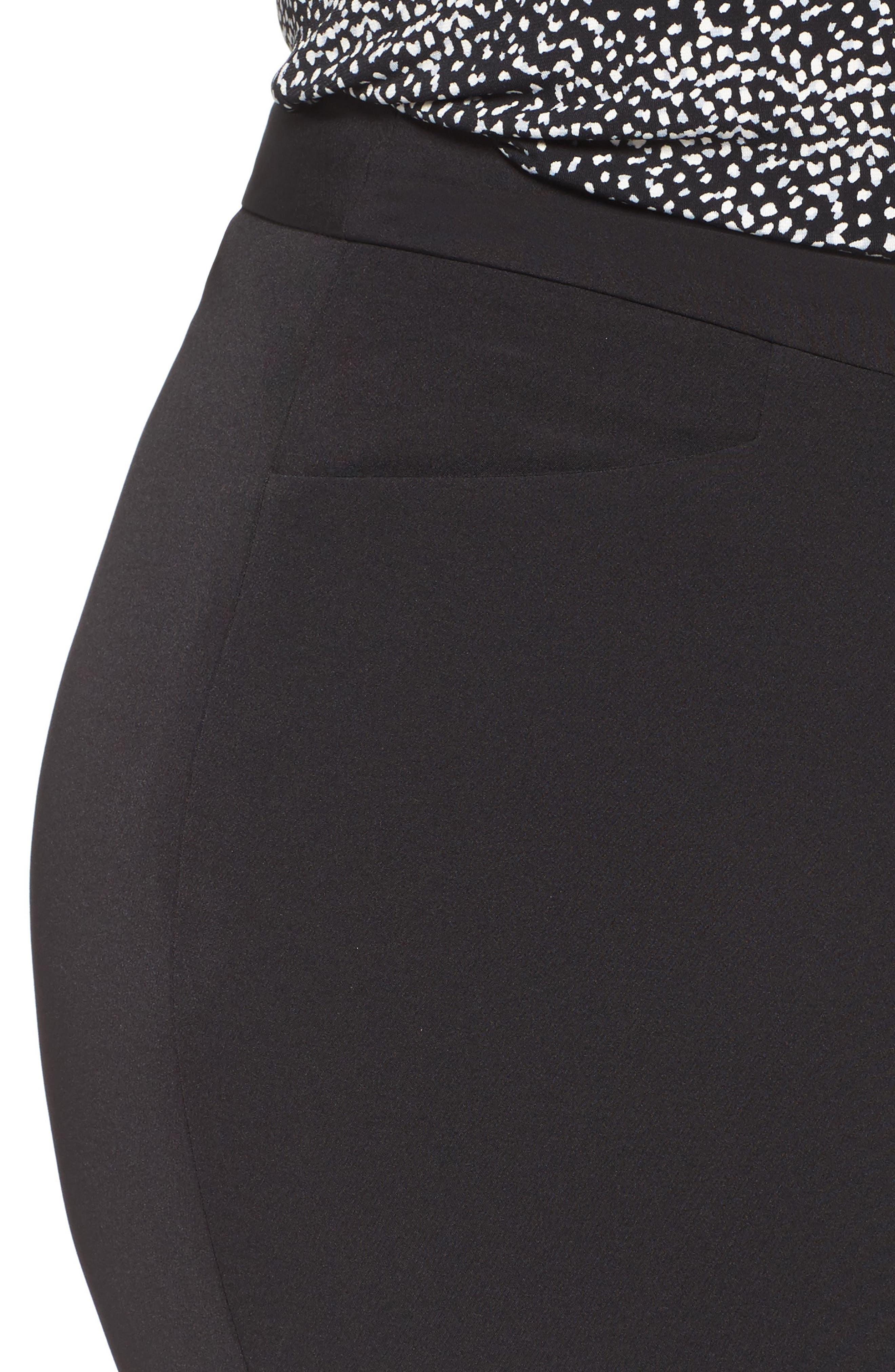 VINCE CAMUTO, Ankle Pants, Alternate thumbnail 5, color, RICH BLACK
