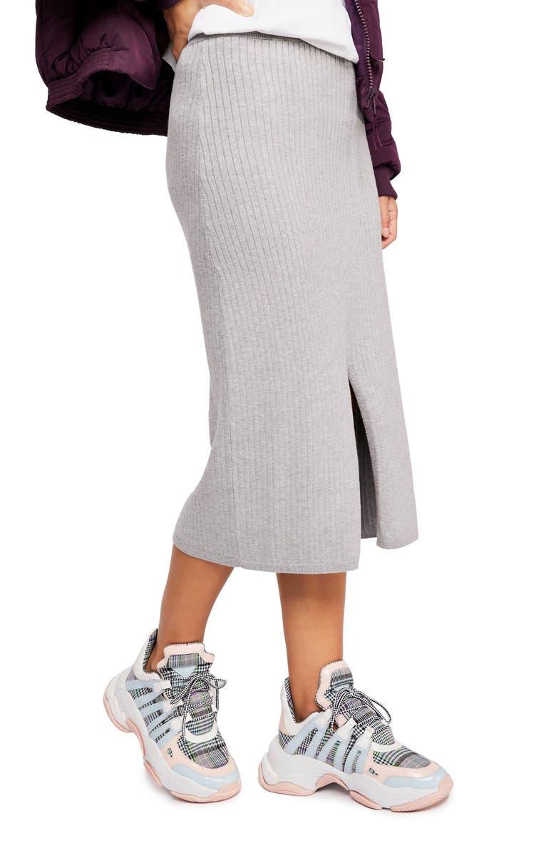Free People Skirts SKYLINE RIB MIDI SKIRT