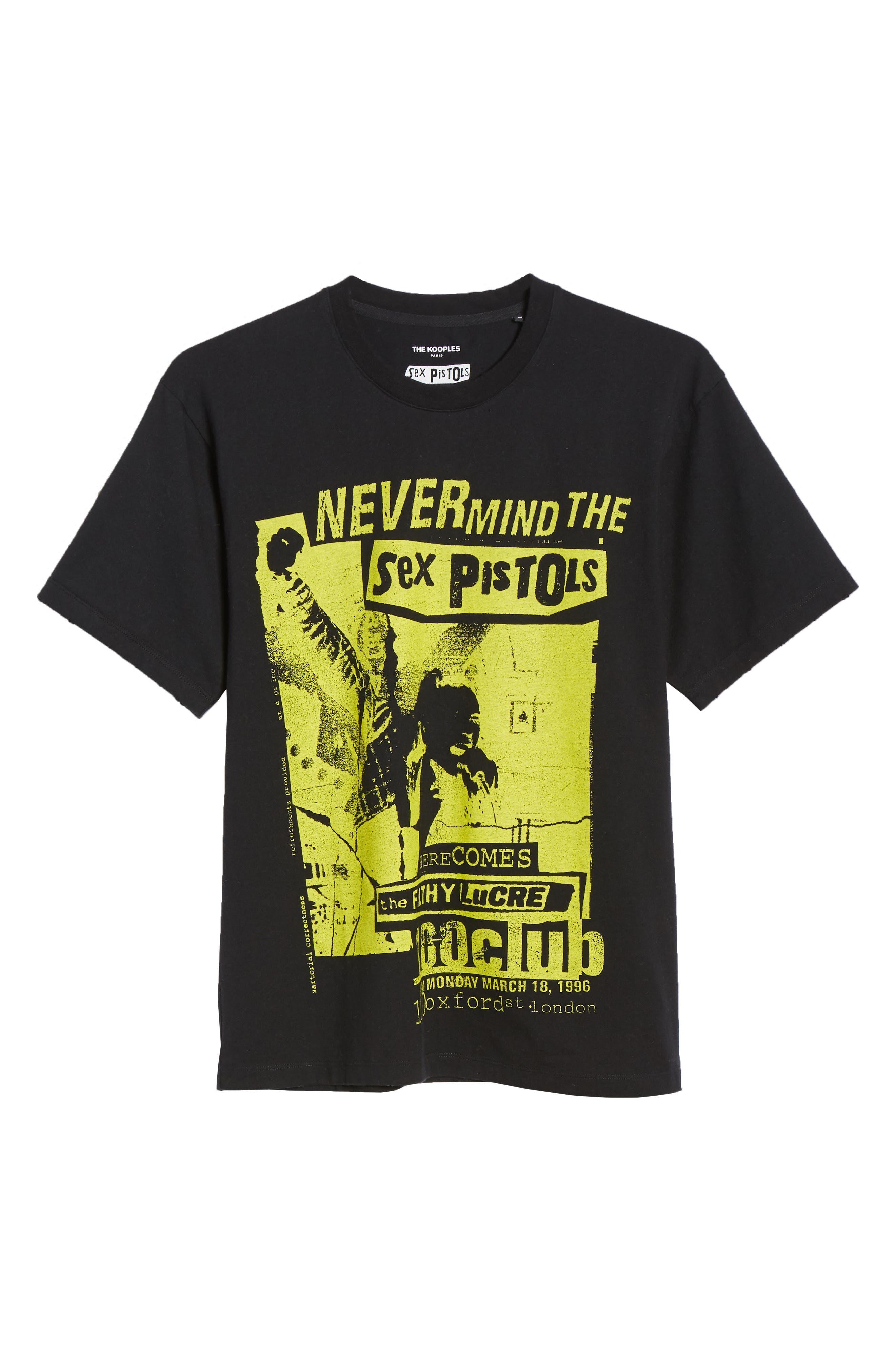 THE KOOPLES, Sex Pistols Graphic T-Shirt, Alternate thumbnail 6, color, 001