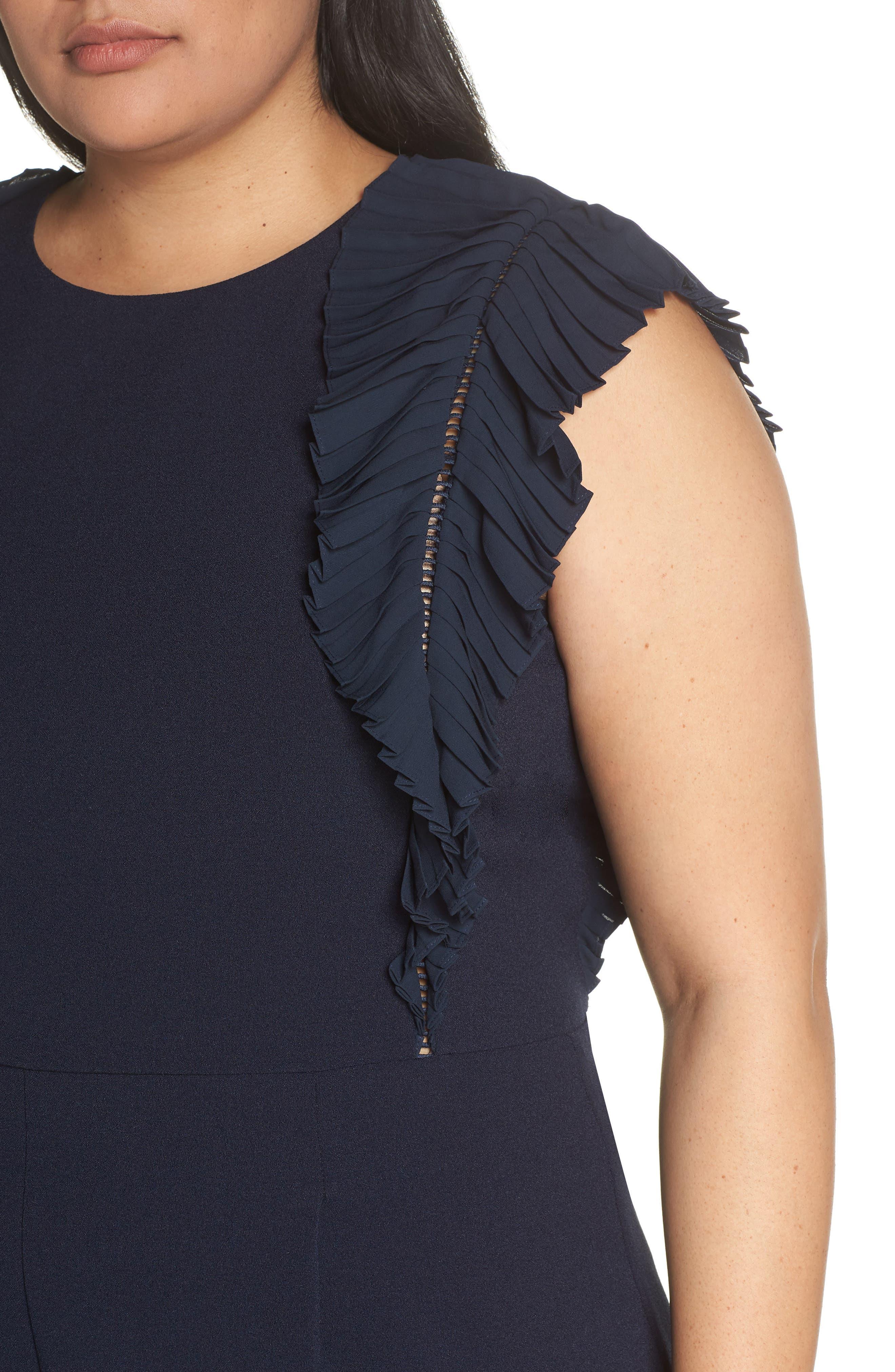CHELSEA28, Pleat Shoulder Crop Jumpsuit, Alternate thumbnail 5, color, 401