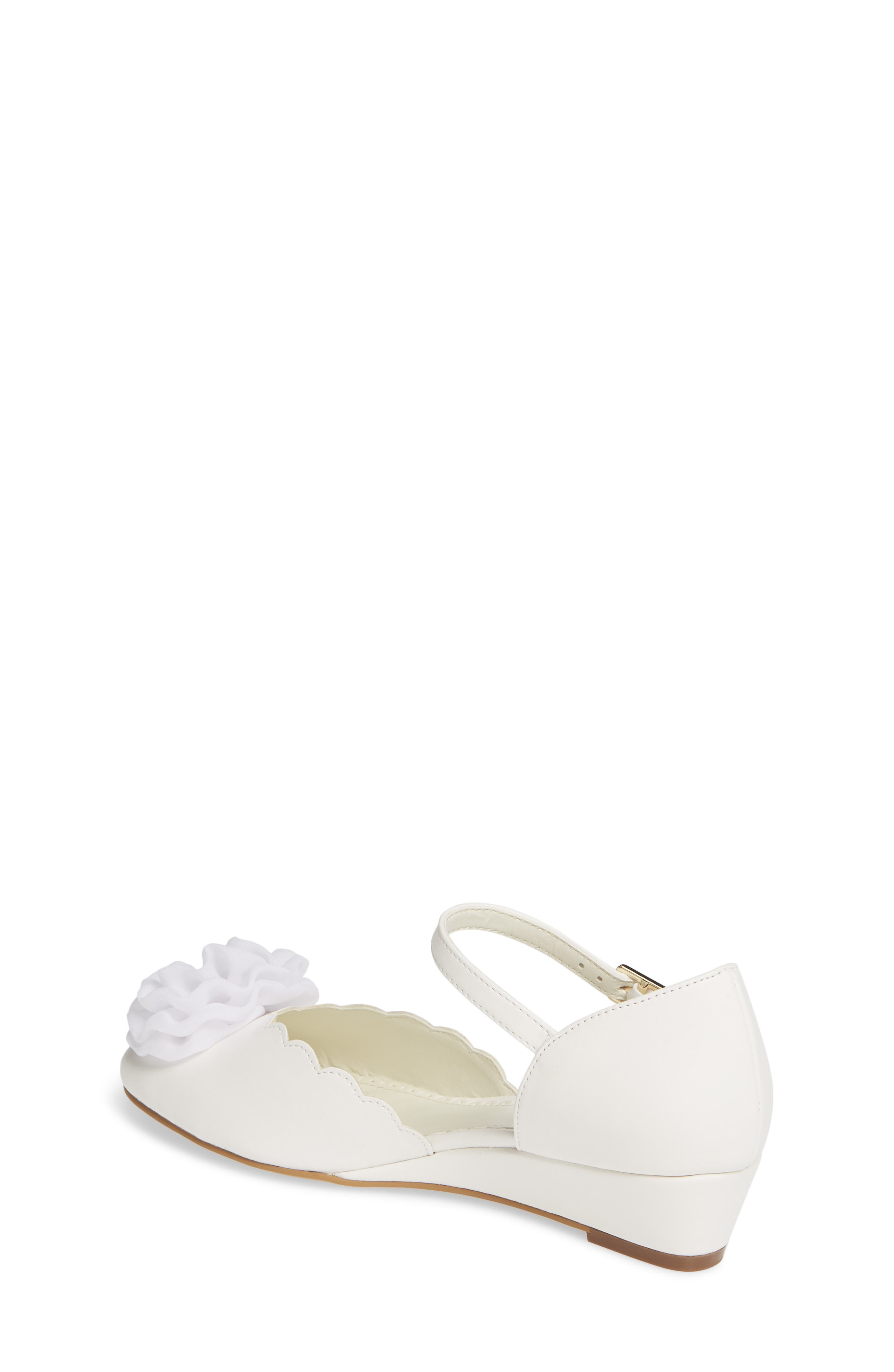 1901, Low Wedge Pump, Alternate thumbnail 2, color, WHITE FAUX LEATHER