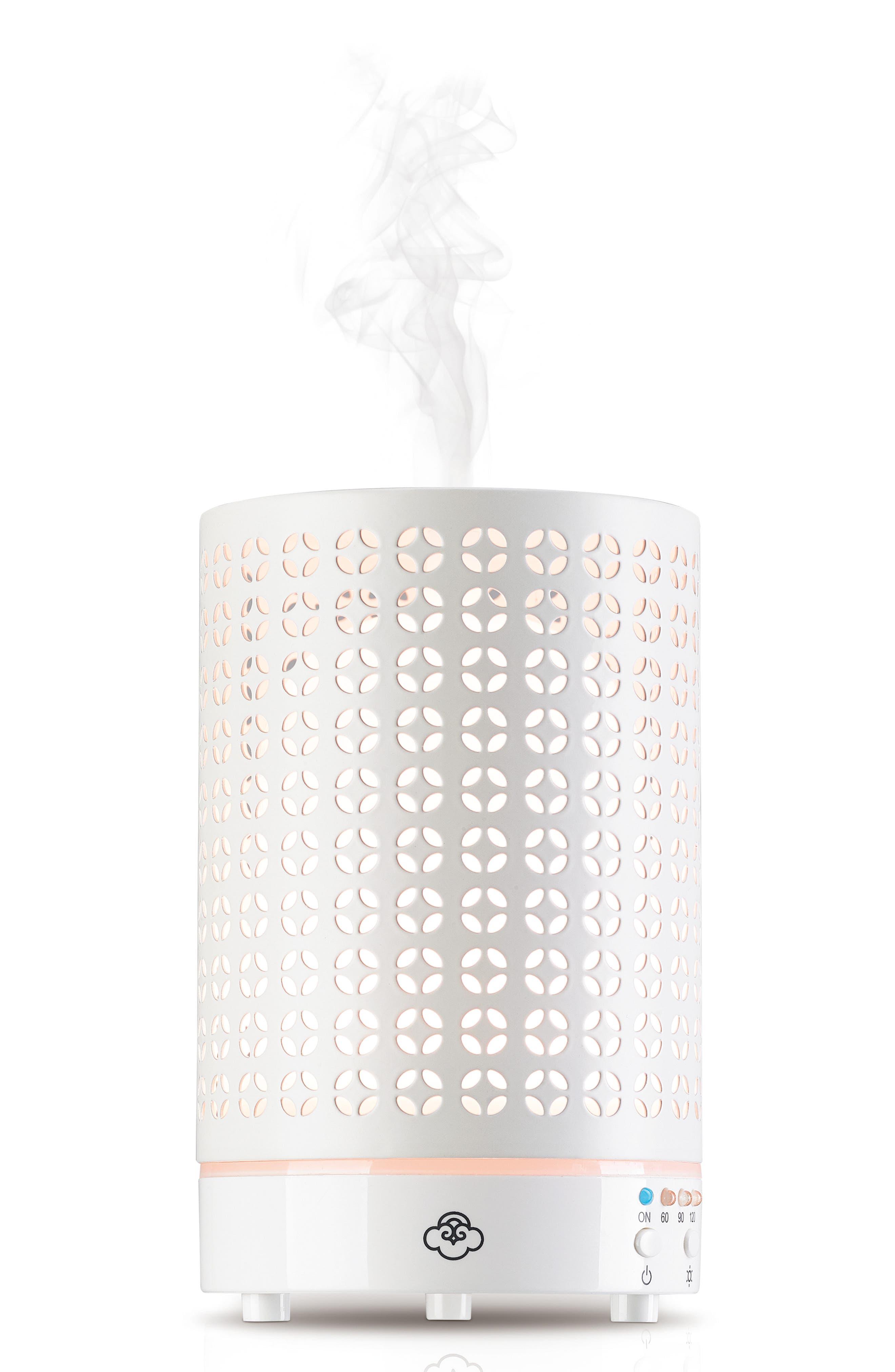 SERENE HOUSE Cool Mist Cosmos Scentilizer Ultrasonic Aroma Diffuser, Main, color, WHITE