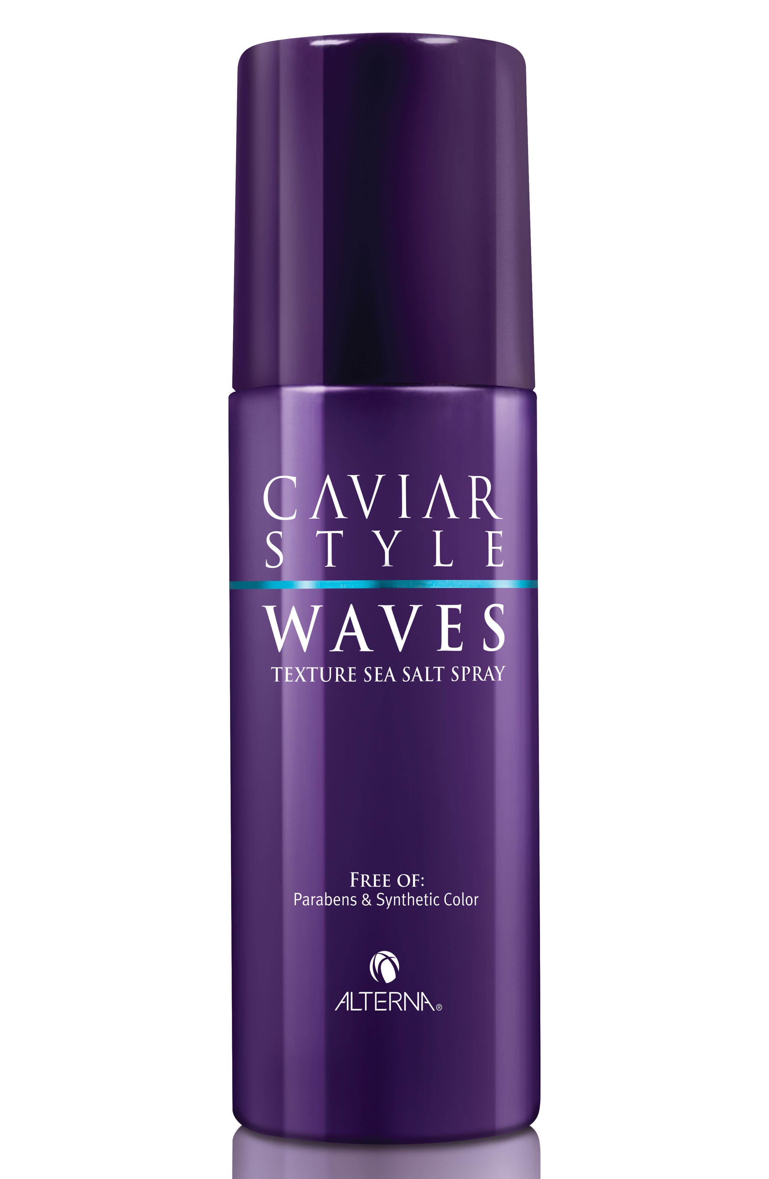 ALTERNA<SUP>®</SUP>, Caviar Style Waves Texture Sea Salt Spray, Main thumbnail 1, color, NO COLOR