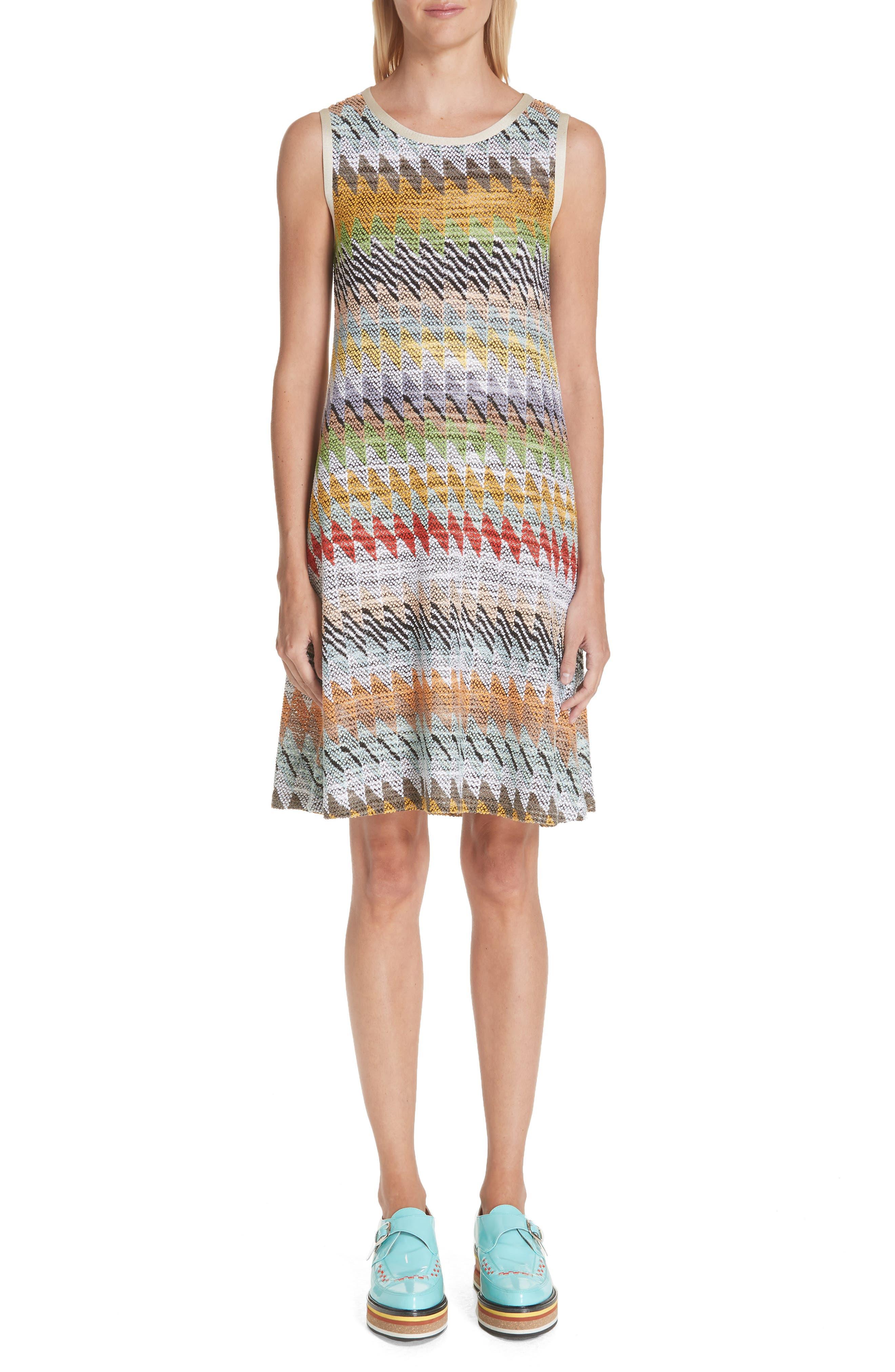 Missoni Knit Shift Dress, US / 42 IT - White
