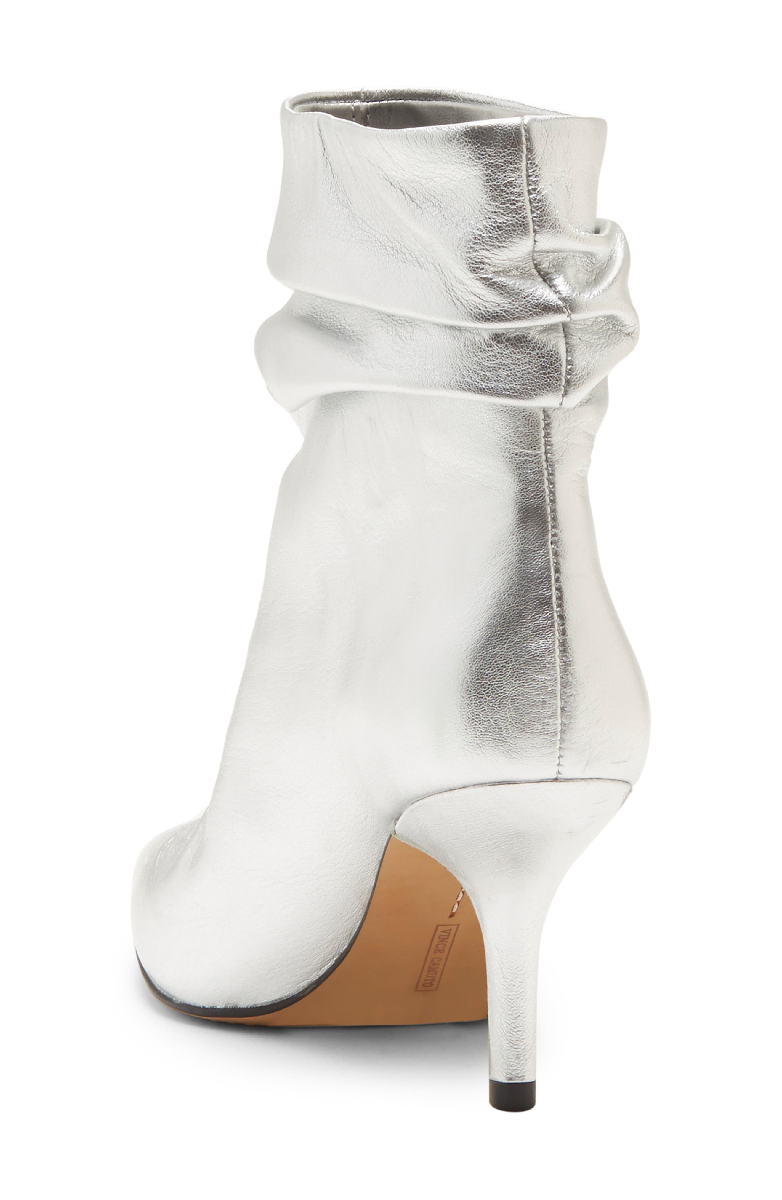 VINCE CAMUTO, Abrianna Bootie, Alternate thumbnail 2, color, GLEAMING SILVER LEATHER