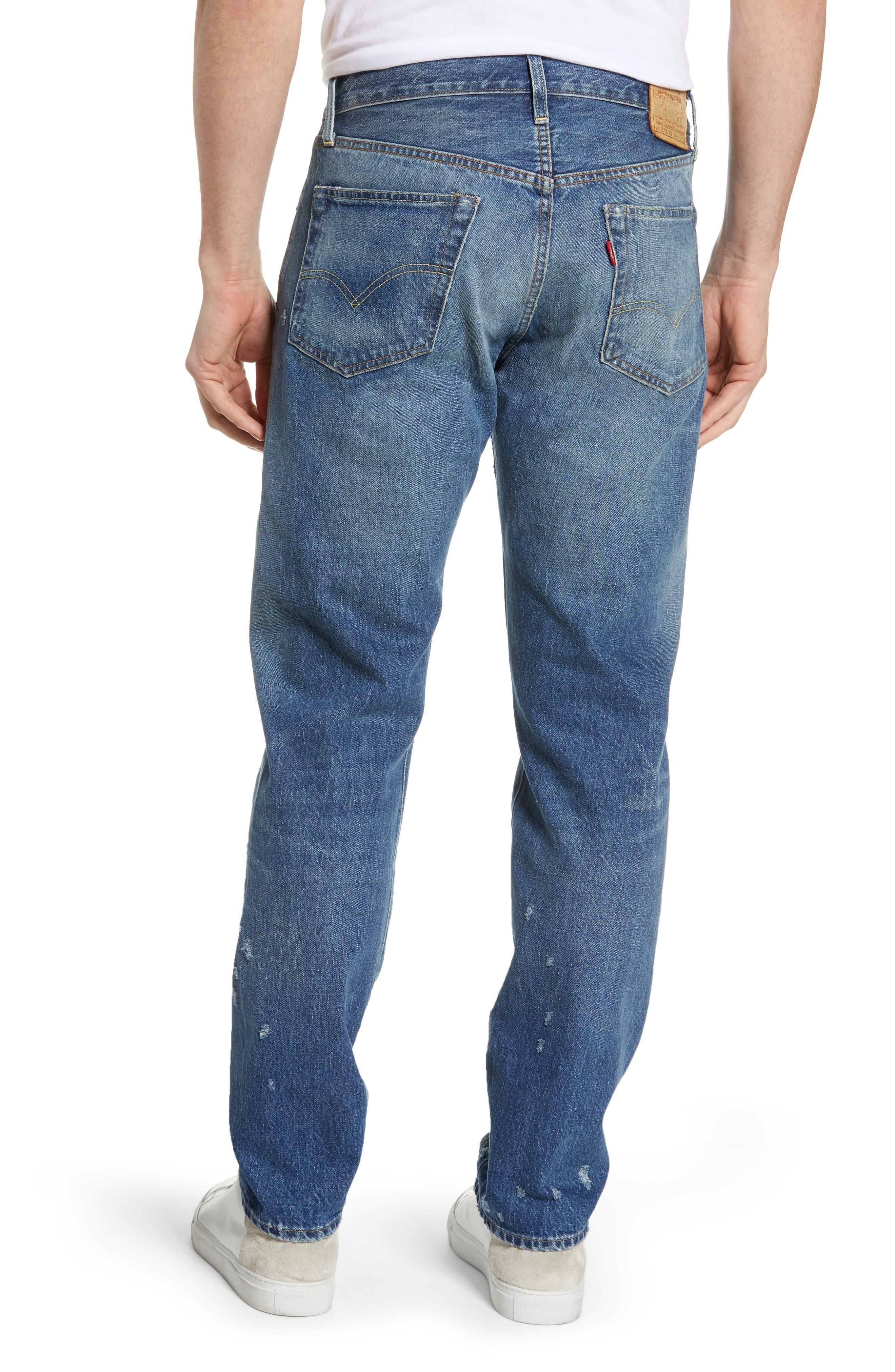 LEVI'S<SUP>®</SUP> VINTAGE CLOTHING, 1954 501<sup>®</sup> Shrink To Fit Straight Leg Jeans, Alternate thumbnail 2, color, BLACKMON
