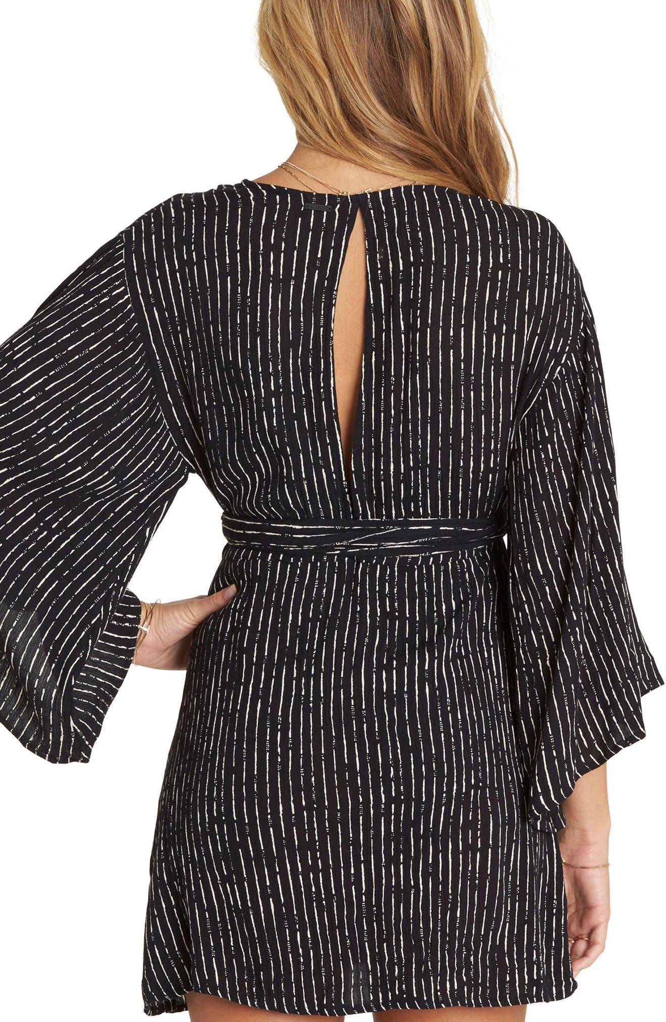 BILLABONG, Relax On High Plunging Dress, Alternate thumbnail 2, color, 001