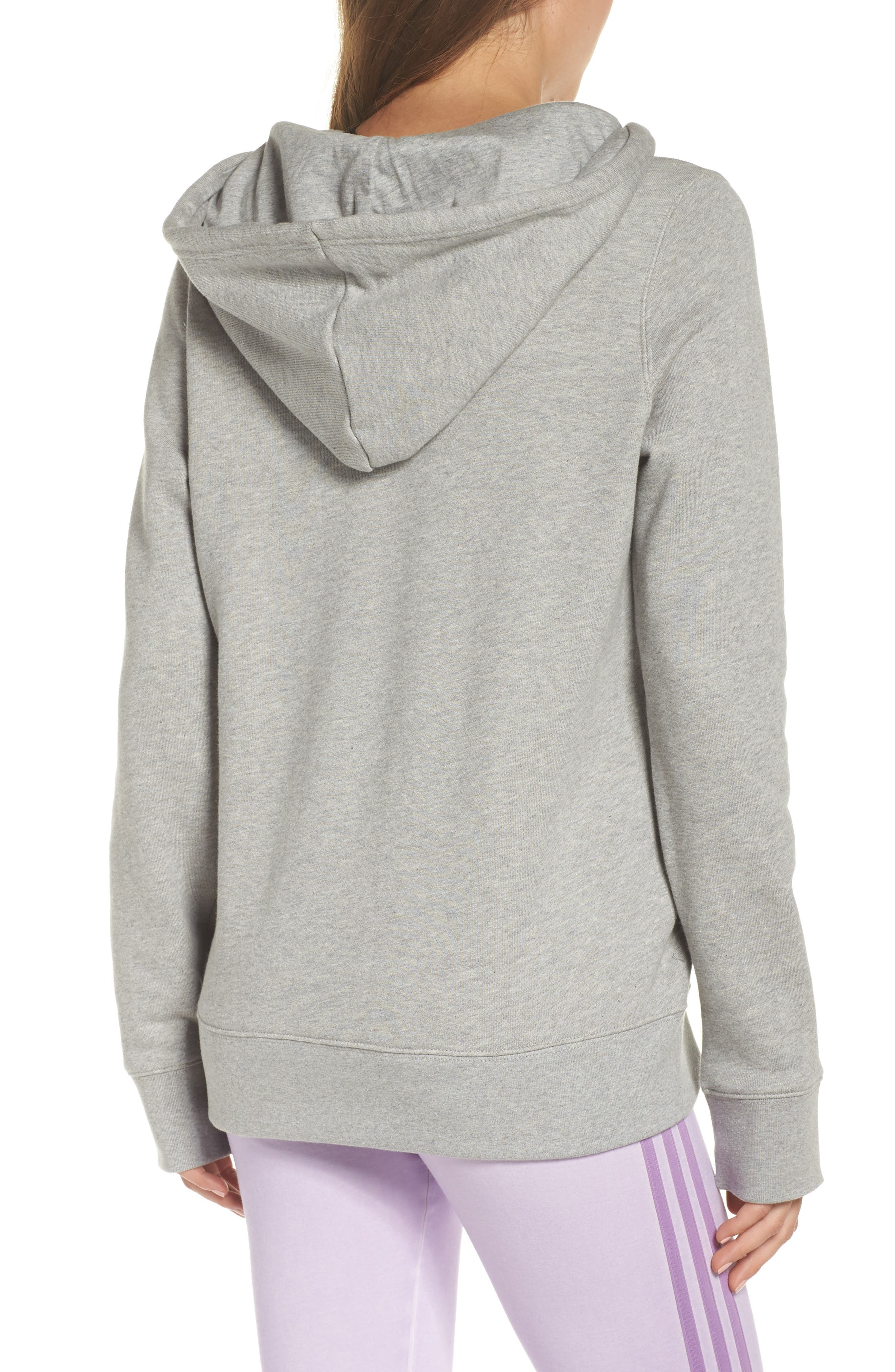 ADIDAS ORIGINALS, Trefoil Hoodie, Alternate thumbnail 2, color, MEDIUM GREY HEATHER