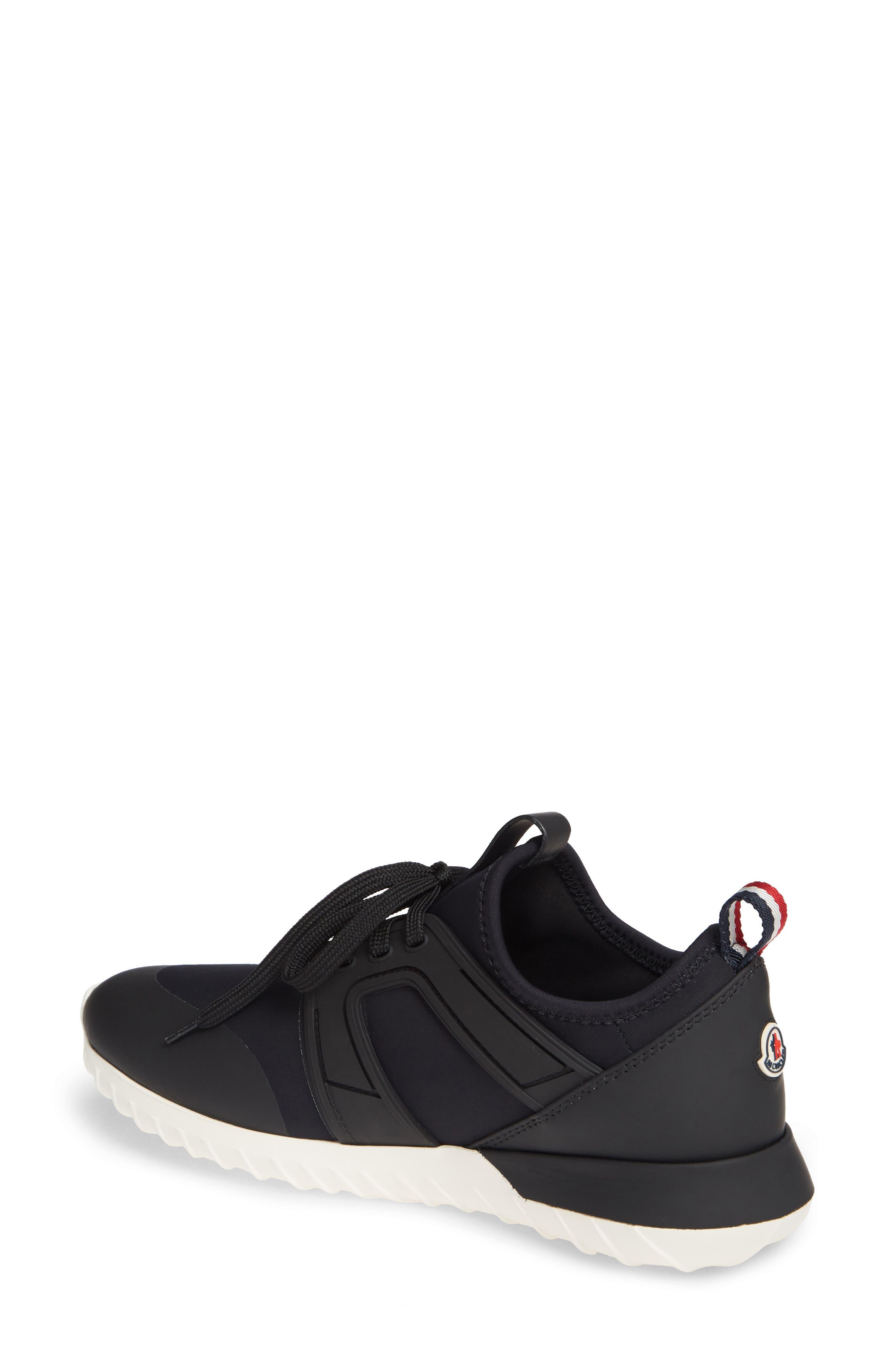 MONCLER, Meline Scarpa Sneaker, Alternate thumbnail 2, color, BLACK