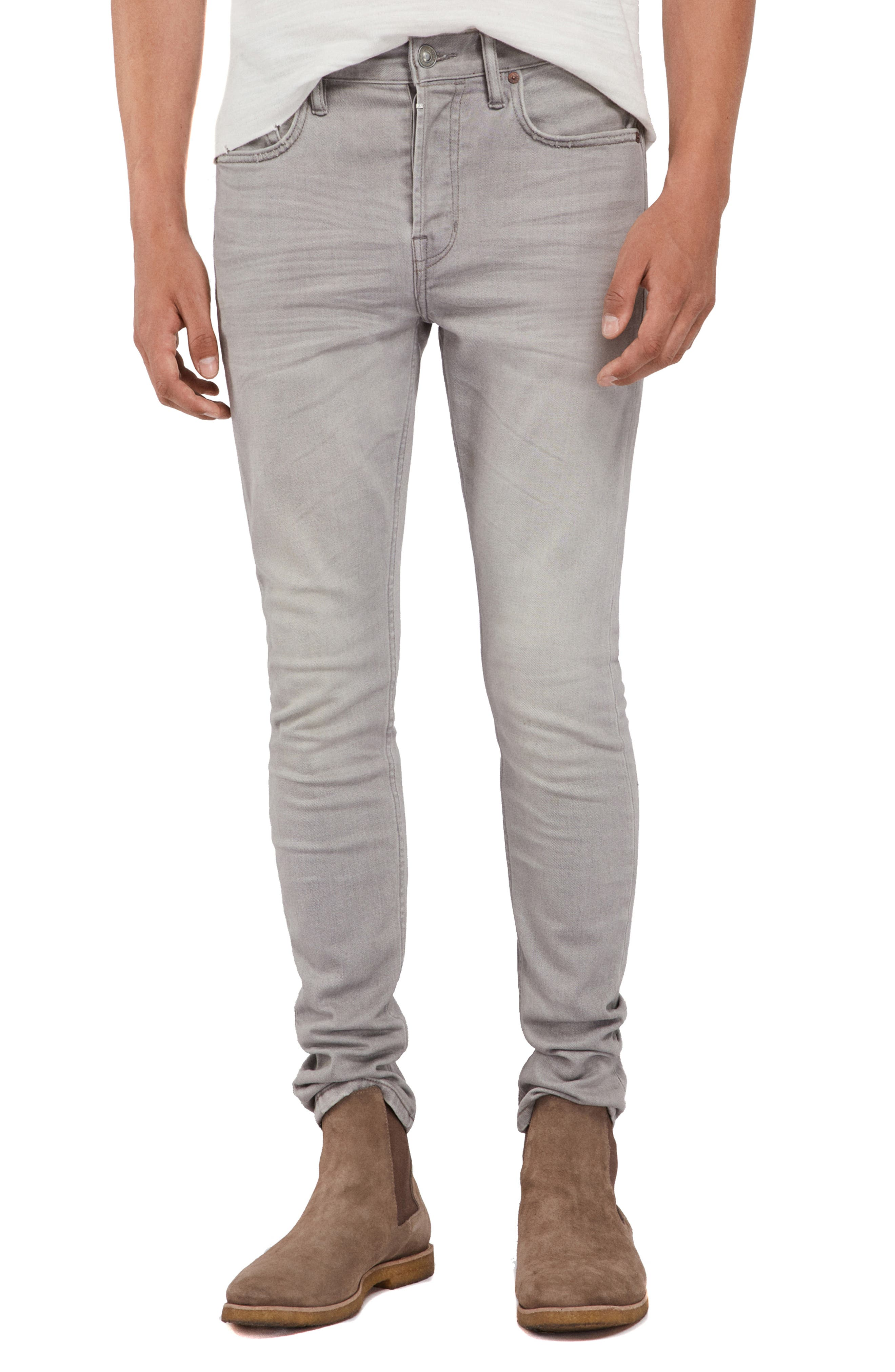 ALLSAINTS Raveline Cigarette Skinny Fit Jeans, Main, color, GREY