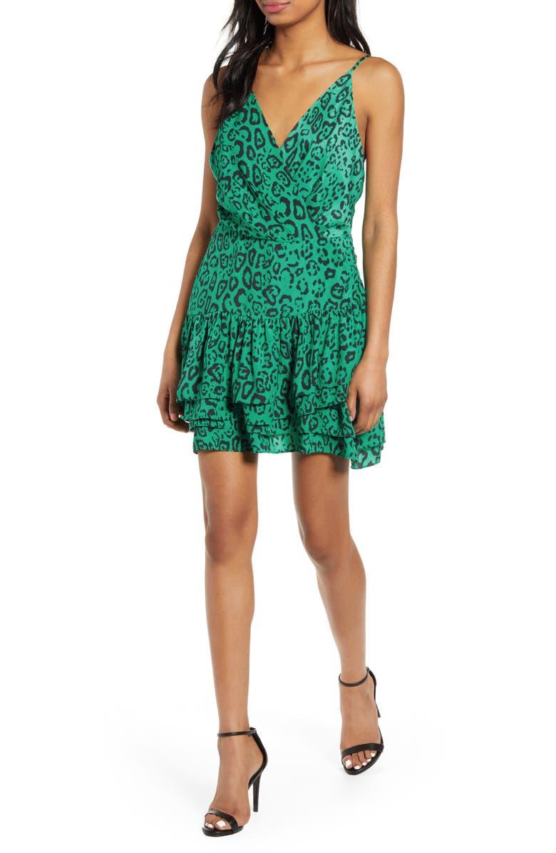 Wayf Dresses Tombly Ruffle Minidress