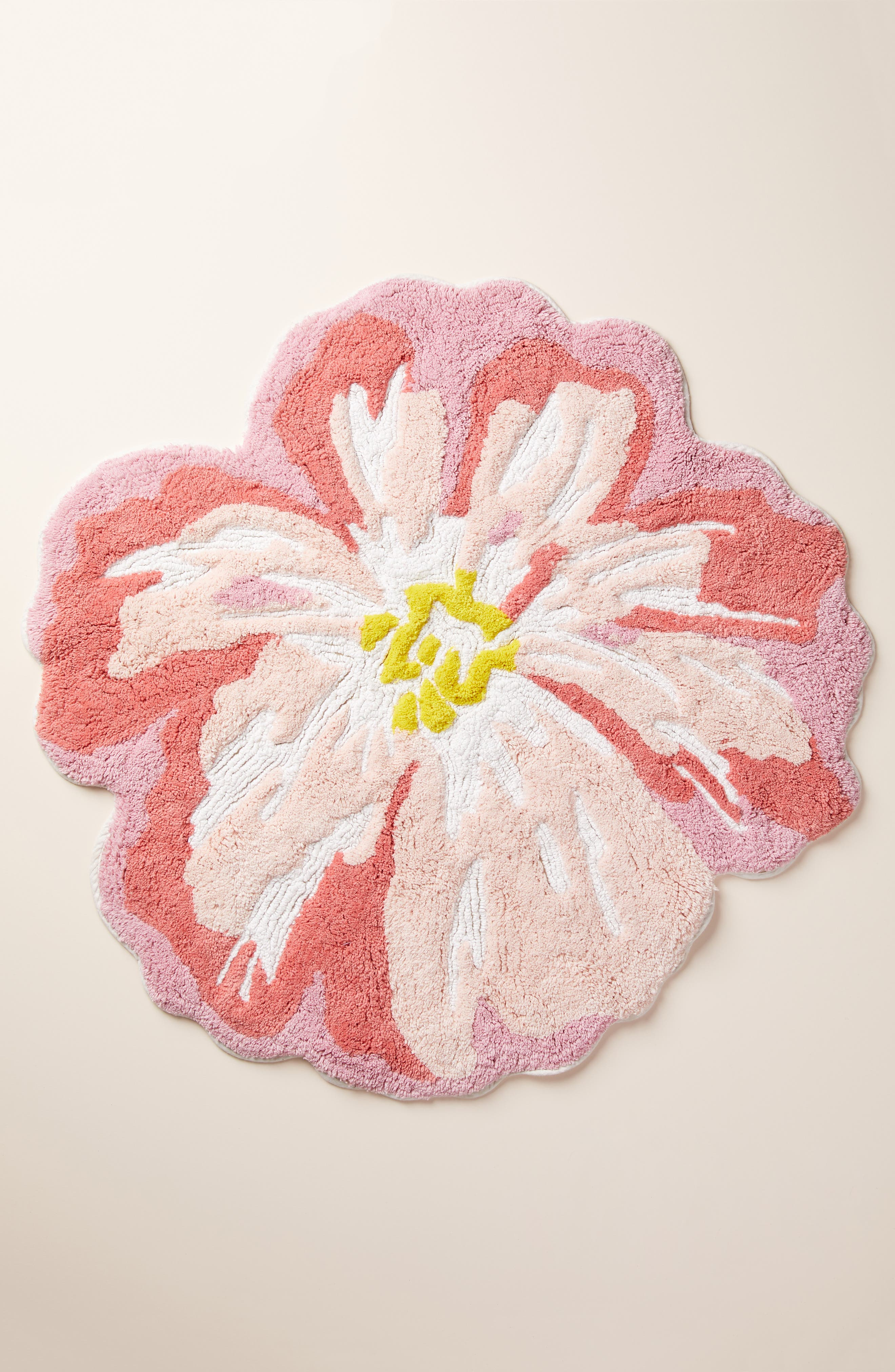 Anthropologie Rhea Floral Bath Mat Size One Size  Pink