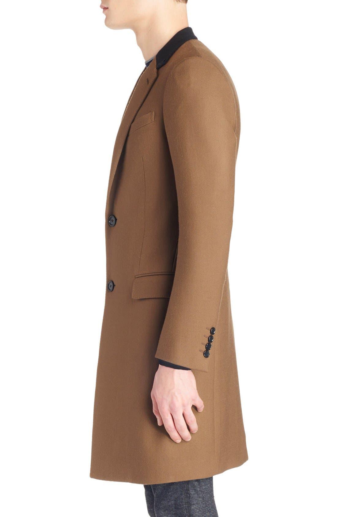 LANVIN, Wool Overcoat, Alternate thumbnail 4, color, 230