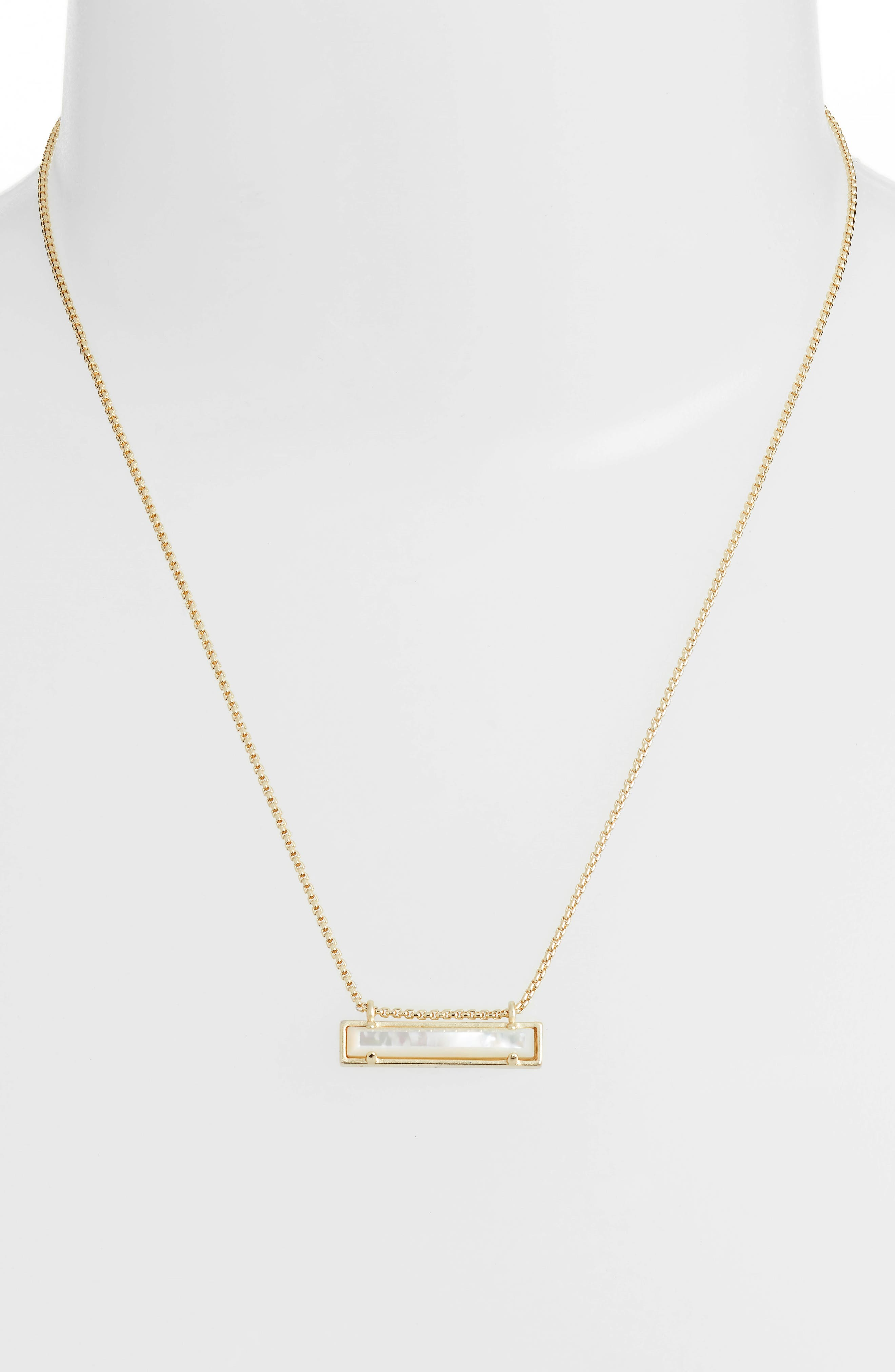 KENDRA SCOTT, Leanor Pendant Necklace, Alternate thumbnail 2, color, IVORY MOP/ GOLD