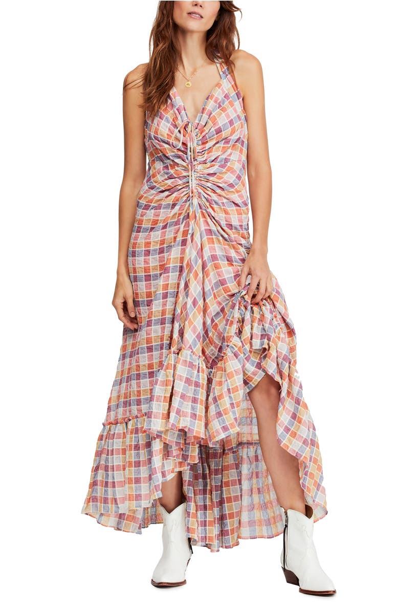 Free People Dresses RAINBOW DREAMS RUCHED MAXI DRESS