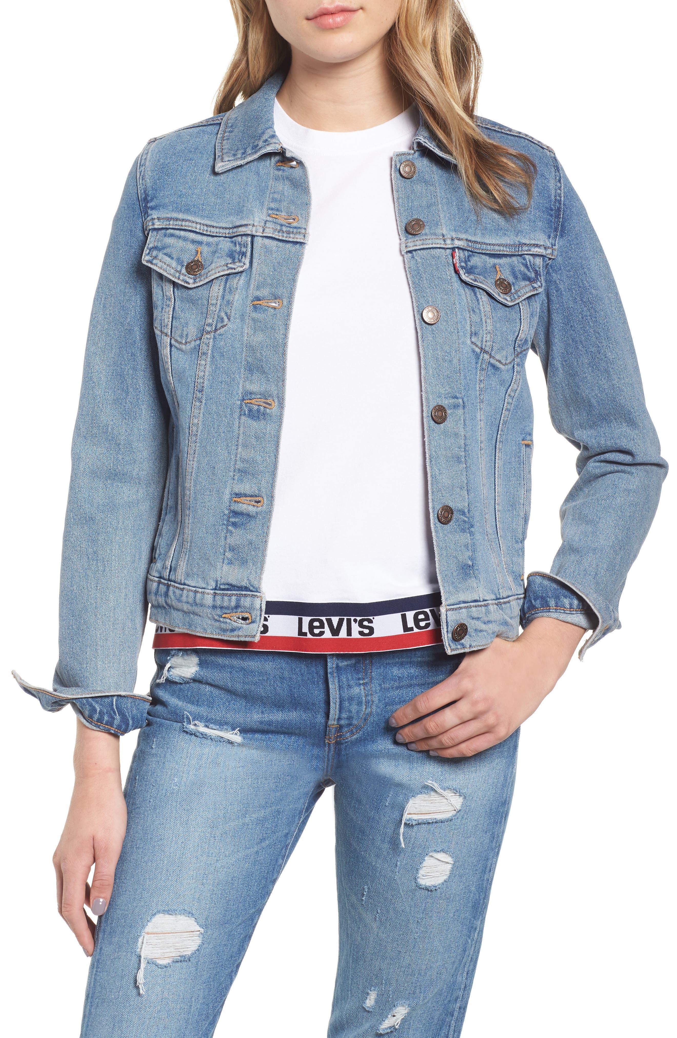 LEVI'S<SUP>®</SUP>, Original Denim Trucker Jacket, Main thumbnail 1, color, 420
