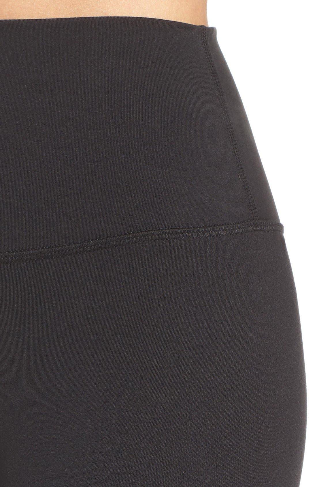 ALO, Airbrush High Waist Leggings, Alternate thumbnail 7, color, BLACK