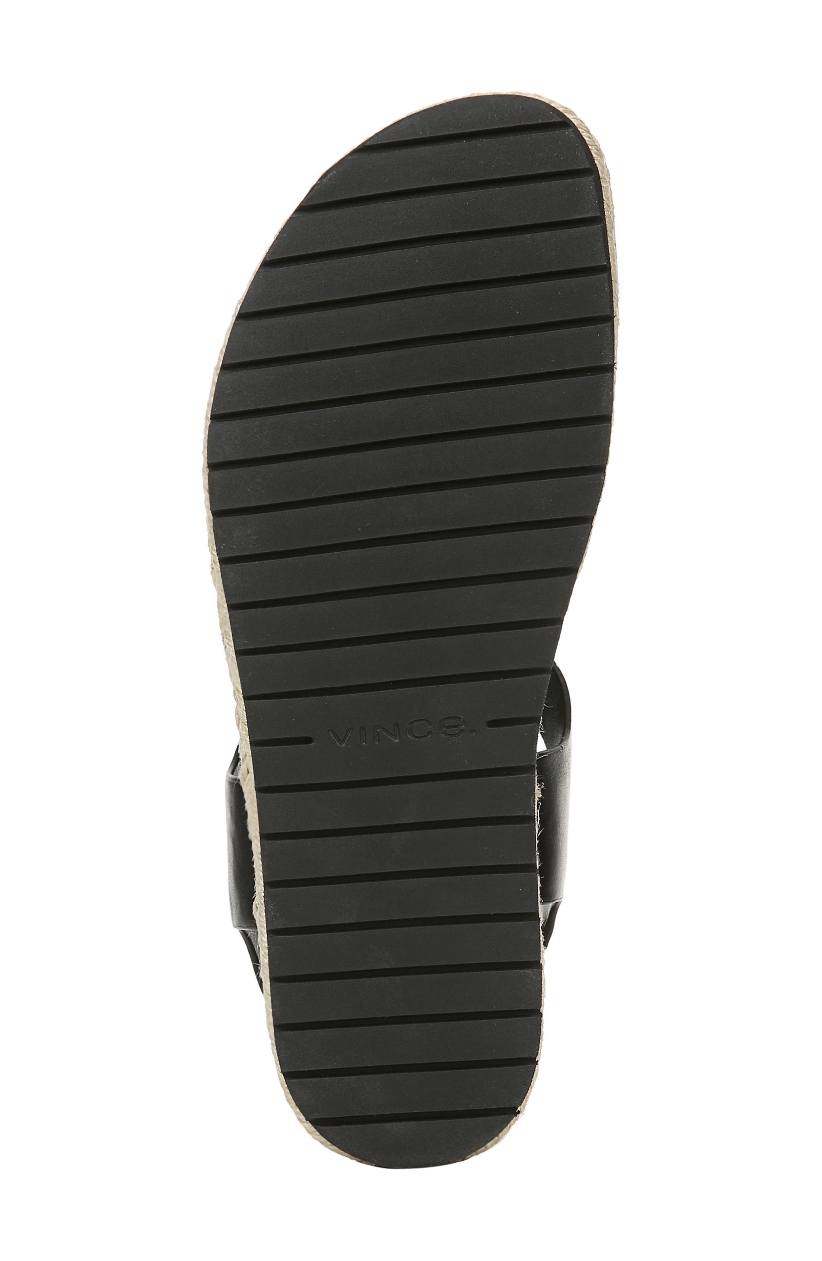 VINCE, Flint Espadrille Thong Sandal, Alternate thumbnail 6, color, BLACK