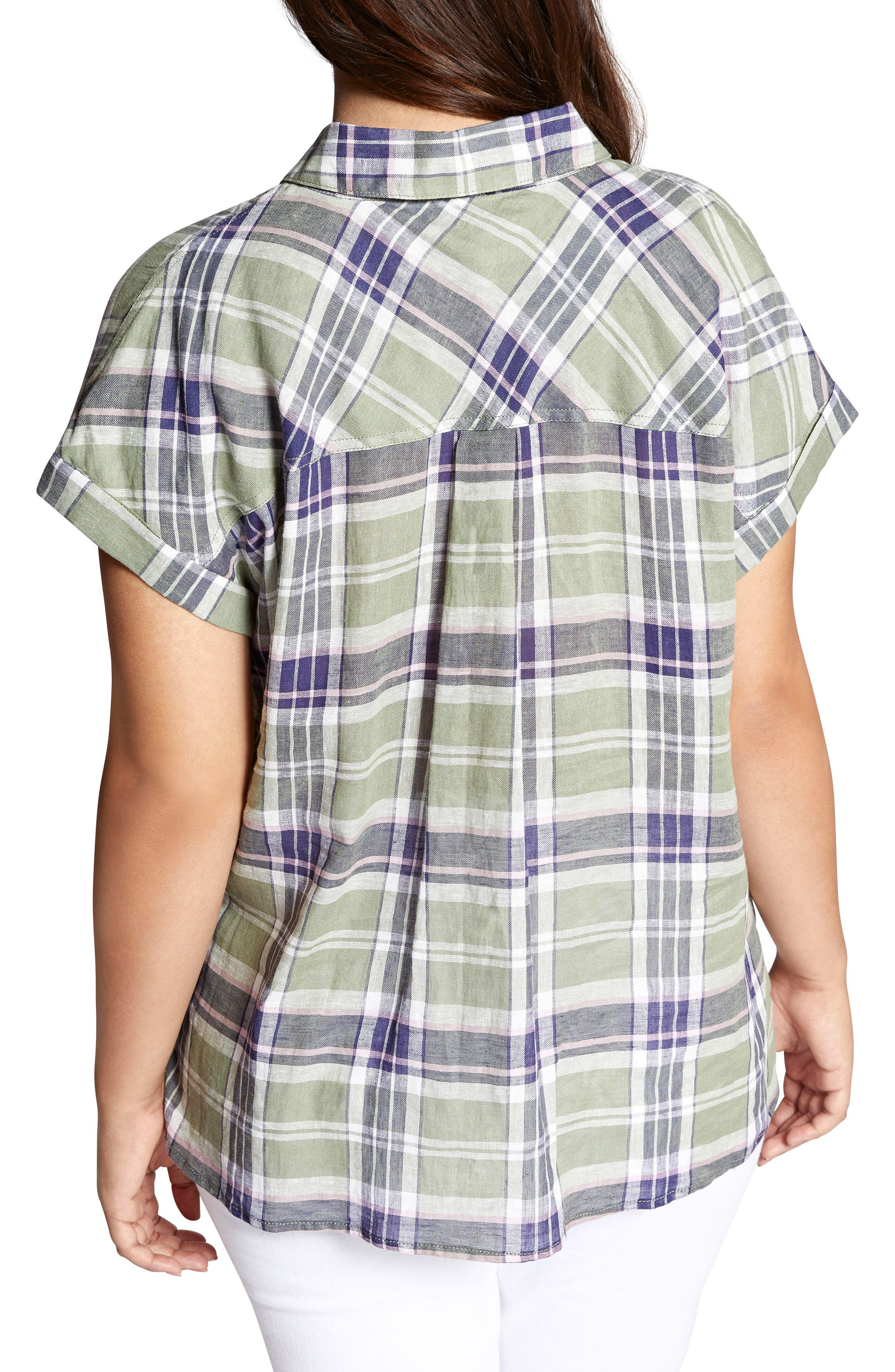 SANCTUARY, Mod Short Sleeve Boyfriend Shirt, Alternate thumbnail 2, color, 658