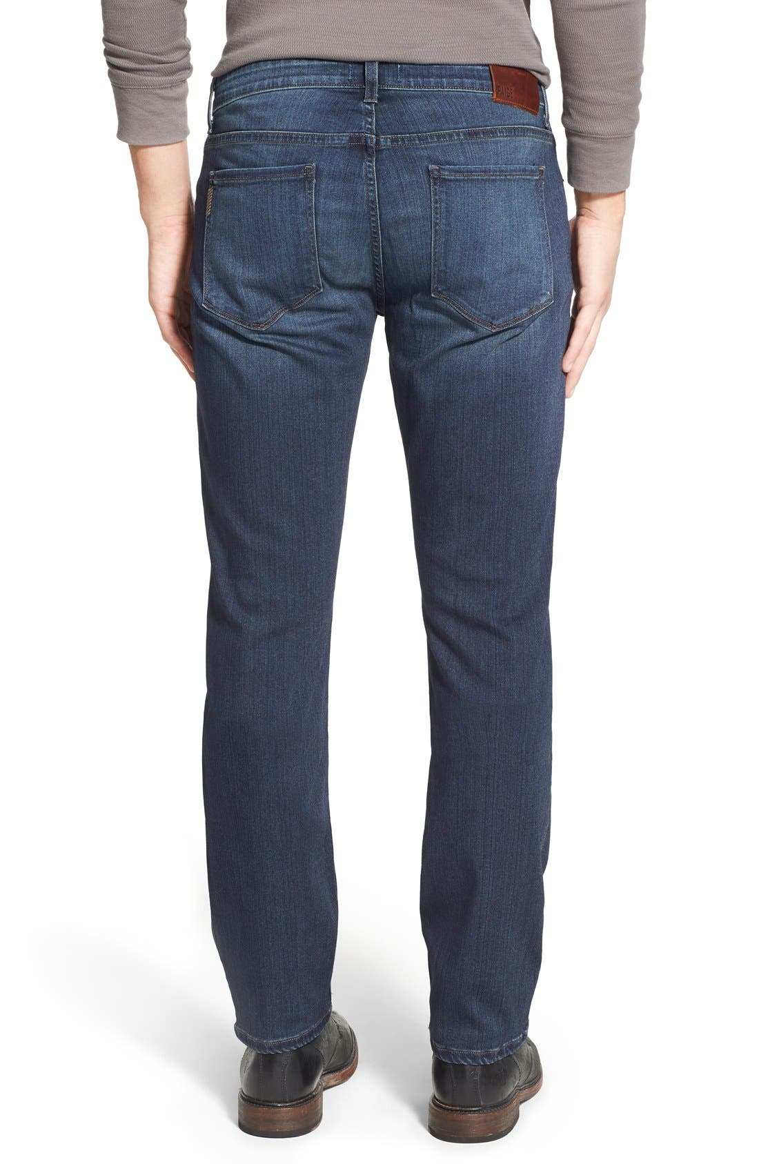 PAIGE, 'Federal' Slim Straight Leg Jeans, Alternate thumbnail 9, color, BLAKELY