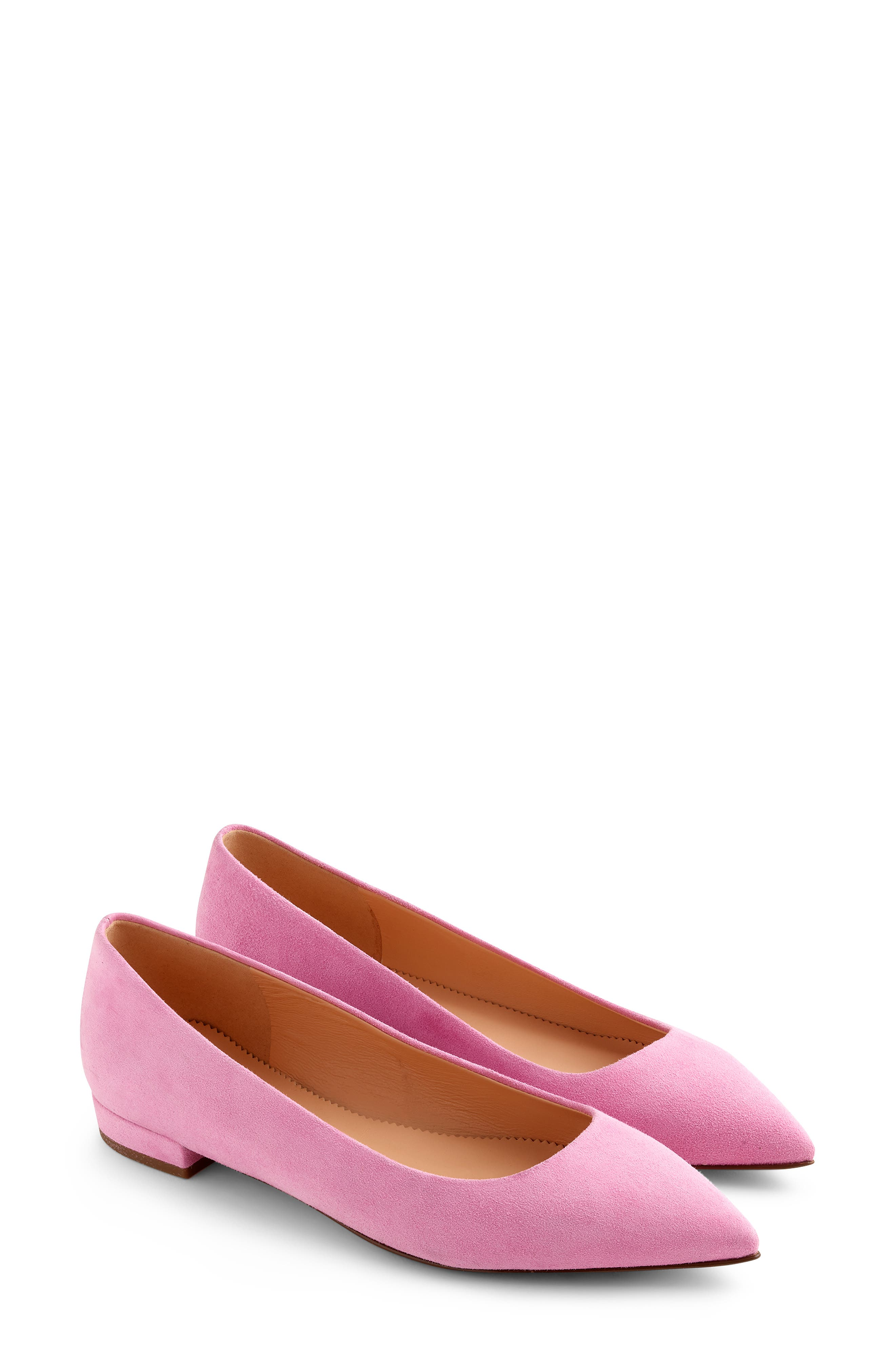 J.crew Pointed Toe Flat- Pink