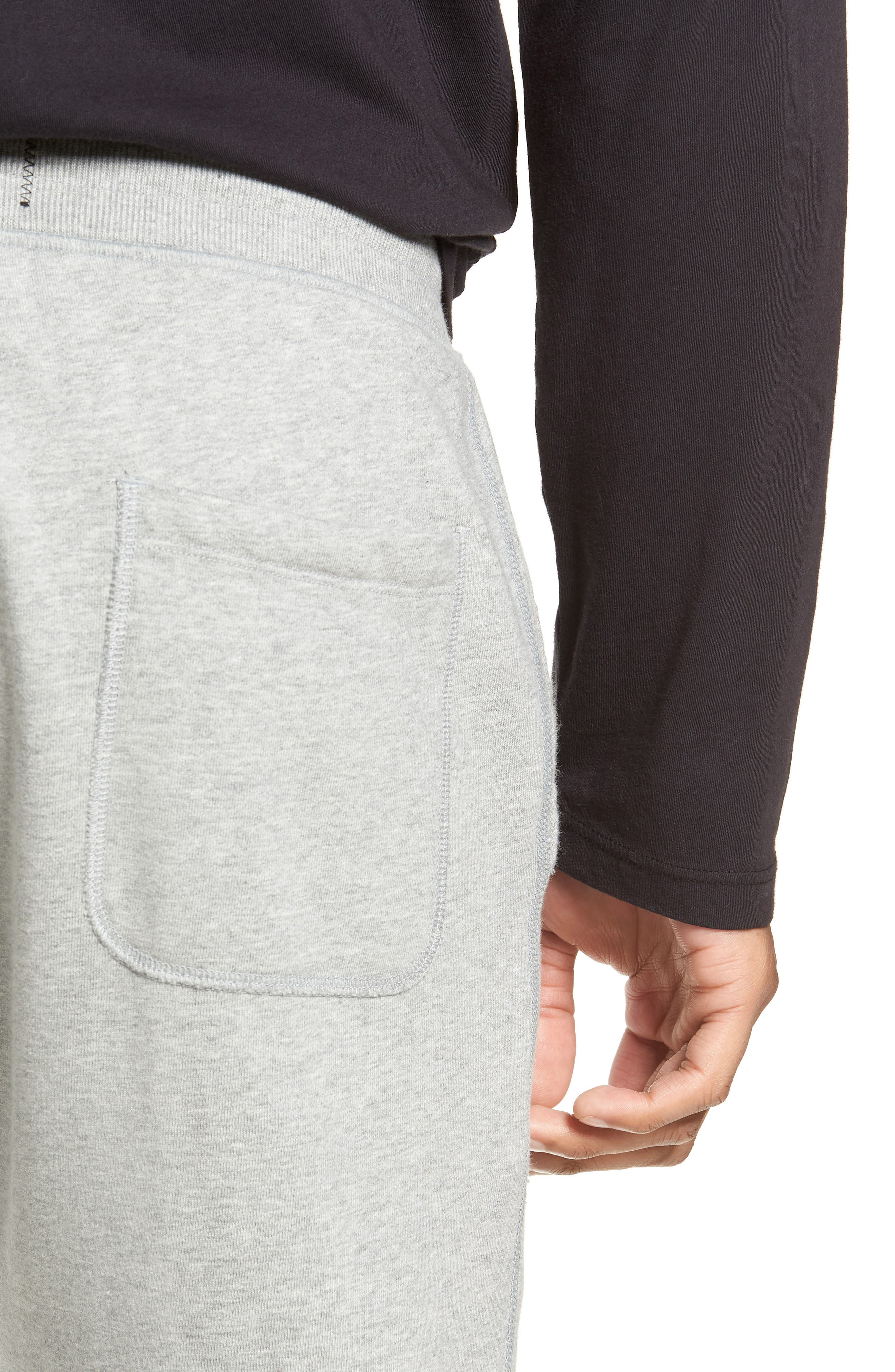 REIGNING CHAMP, Cotton Jogger Pants, Alternate thumbnail 5, color, HEATHER GREY
