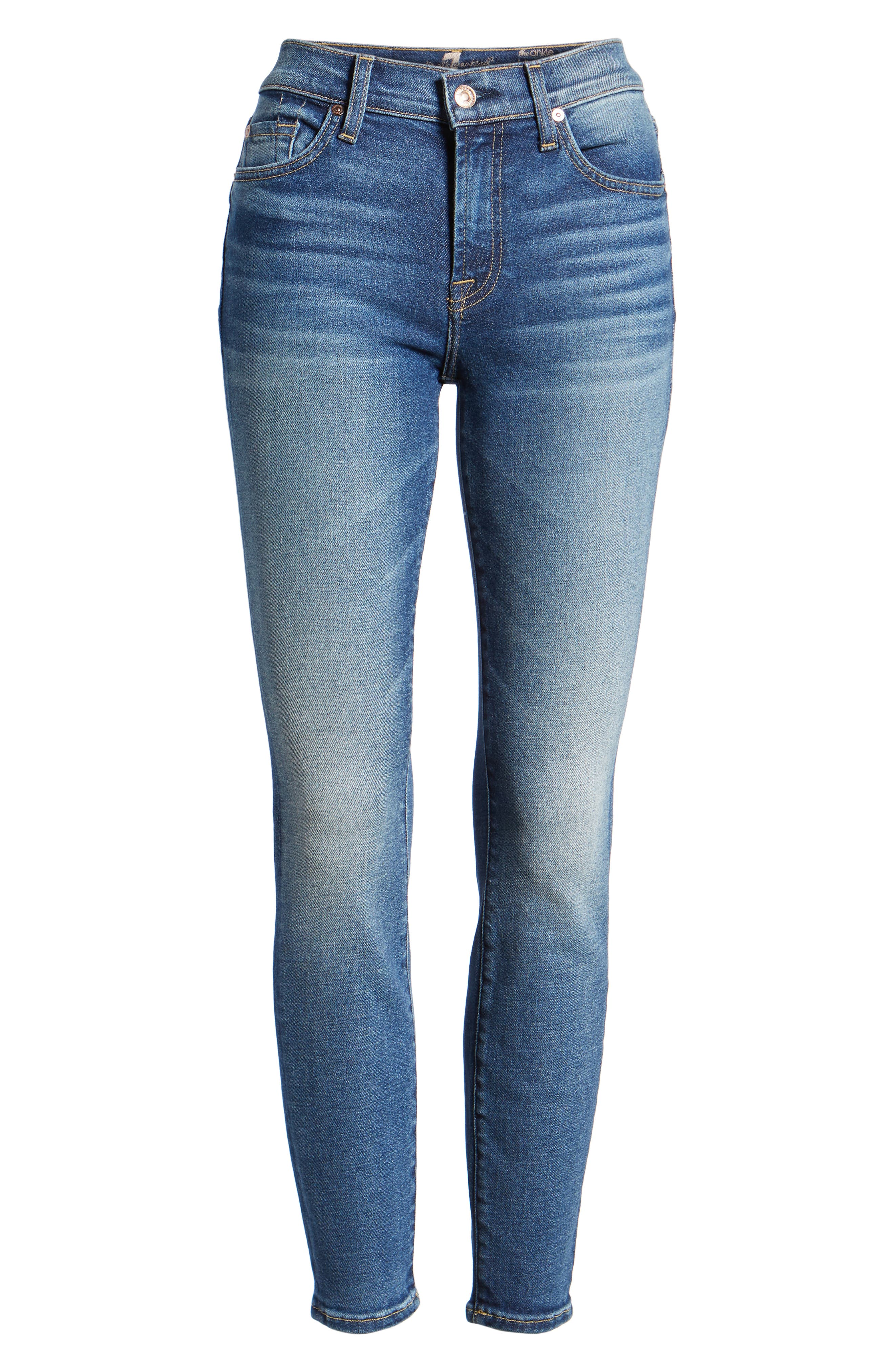 7 FOR ALL MANKIND<SUP>®</SUP>, Luxe Vintage The Ankle Skinny Jeans, Alternate thumbnail 7, color, LUXE VINTAGE FEMME