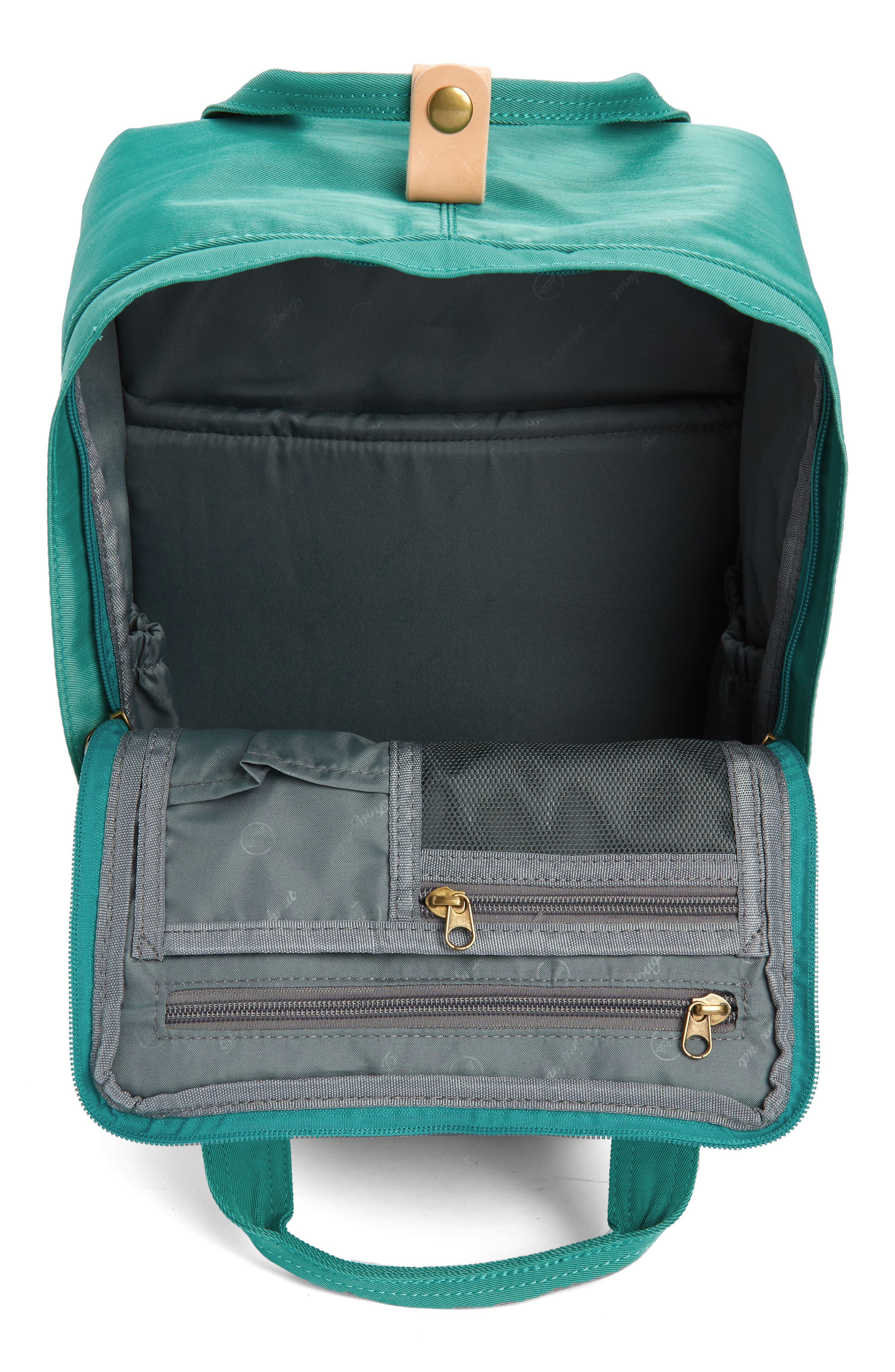 DOUGHNUT, Macaroon Water Resistant Backpack, Alternate thumbnail 4, color, MINT