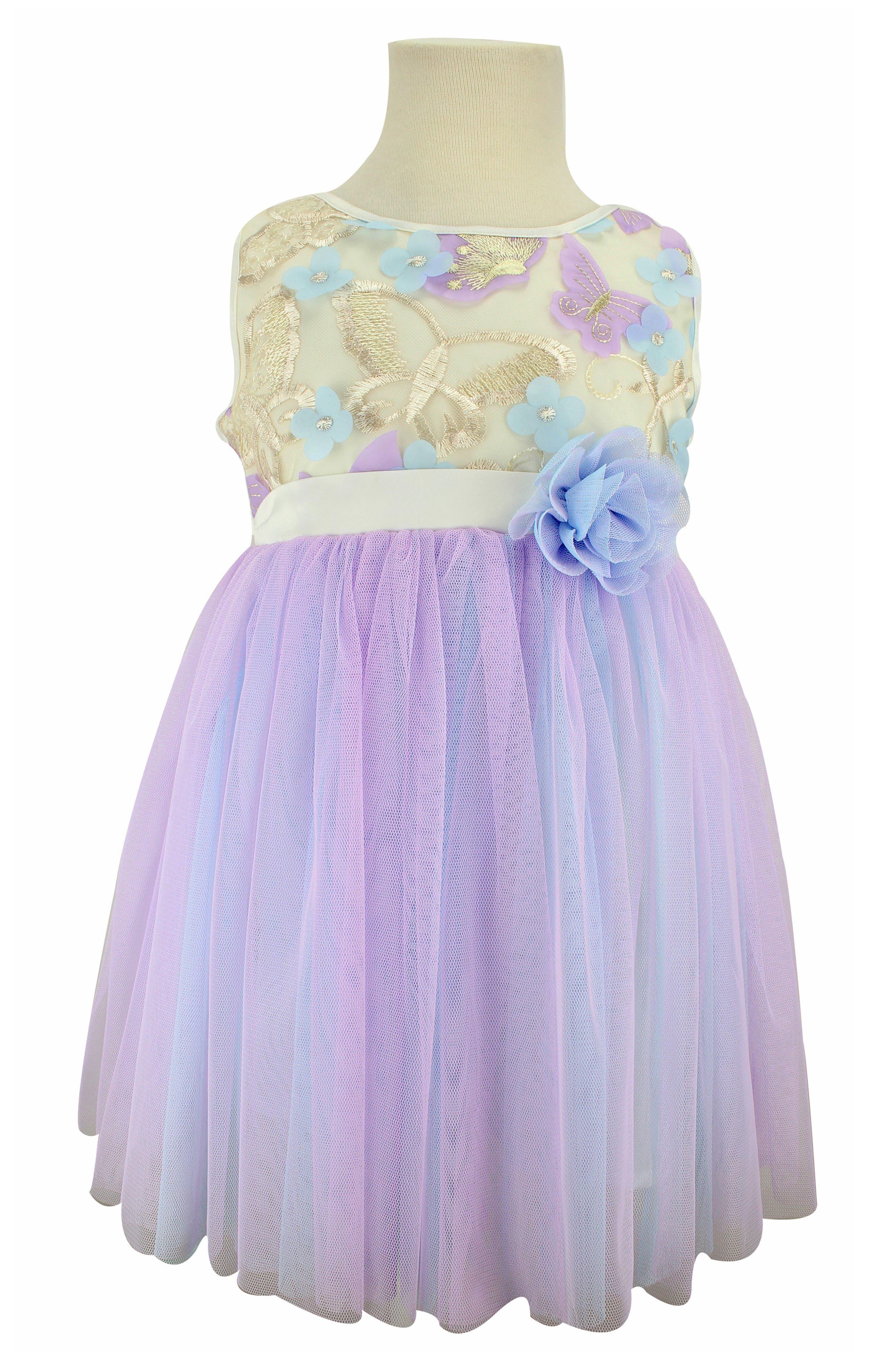 POPATU, Butterfly Tulle Dress, Main thumbnail 1, color, PURPLE/ BLUE