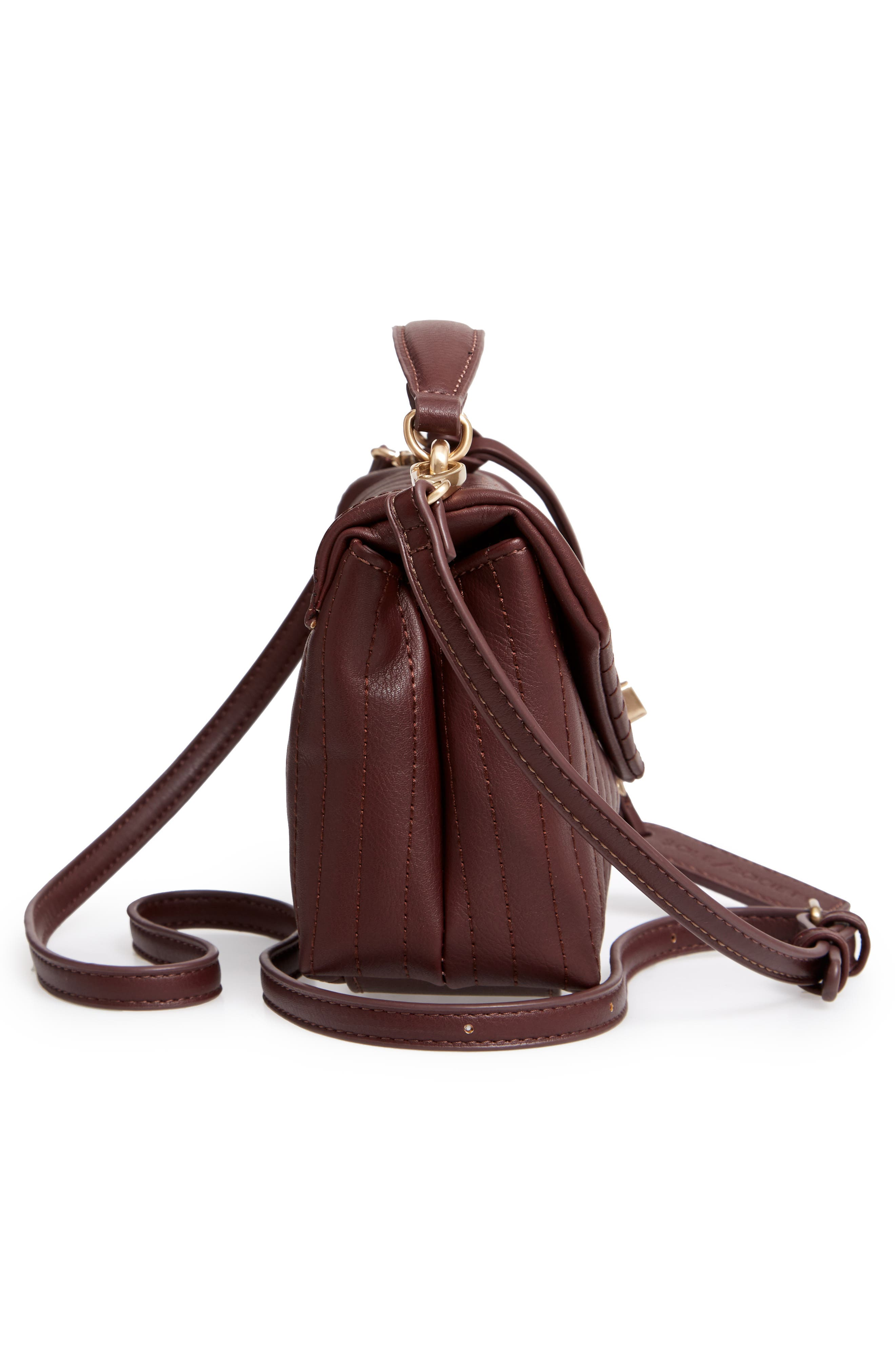 SOLE SOCIETY, Urche Faux Leather Crossbody Bag, Alternate thumbnail 6, color, OXBLOOD