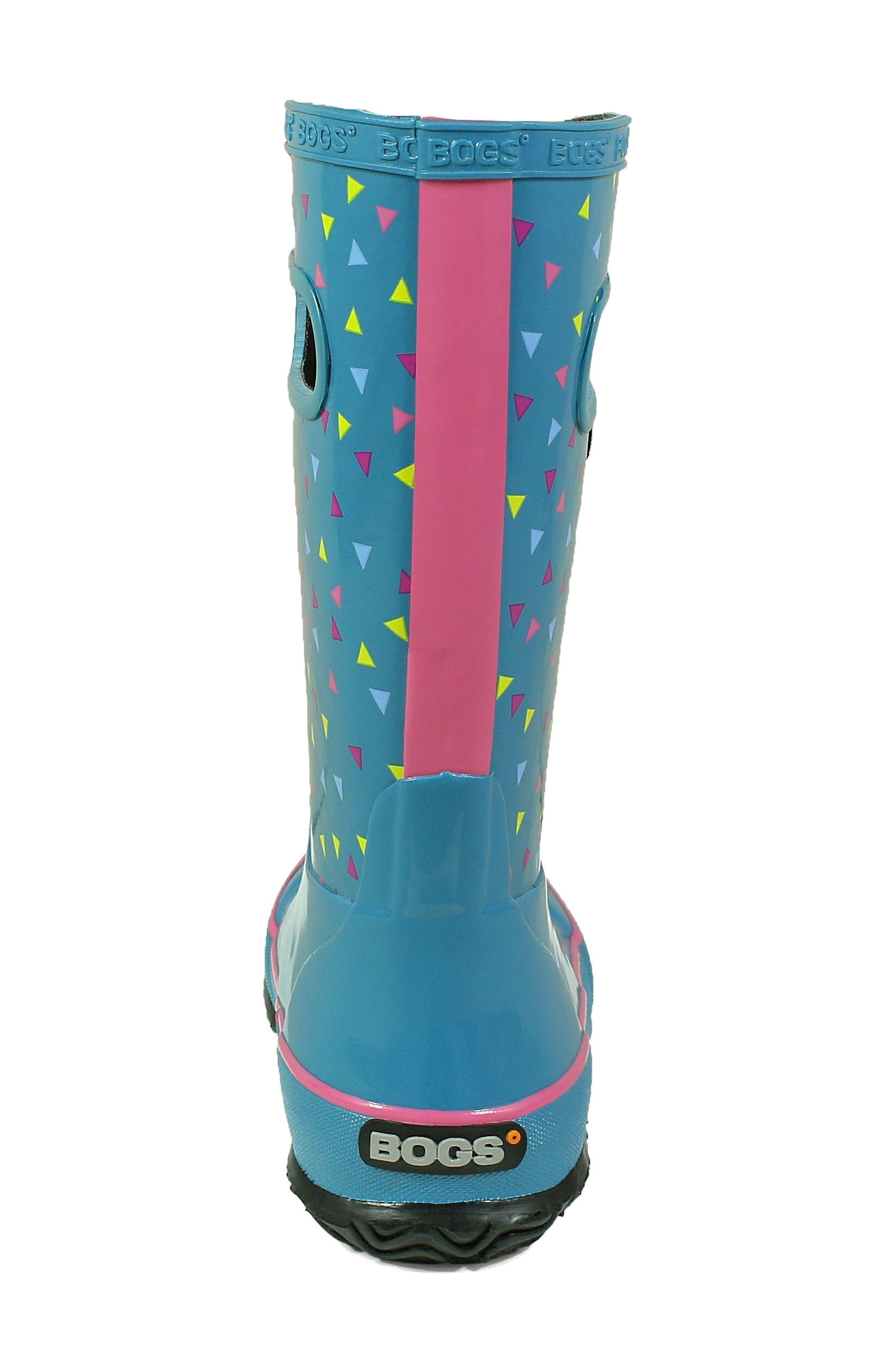 BOGS, Dots Waterproof Rain Boot, Alternate thumbnail 7, color, DARK BLUE MULTI