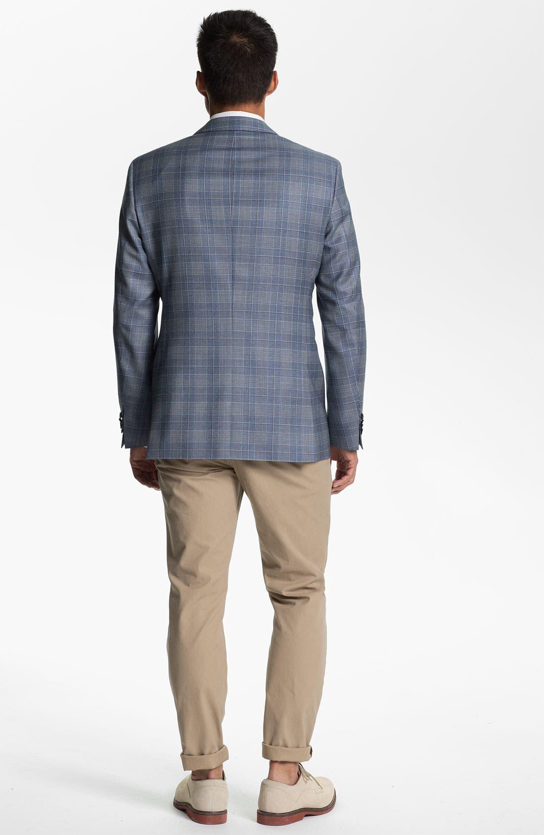 ZZDNUHUGO BOSS, BOSS Black 'James' Trim Fit Plaid Sportcoat, Alternate thumbnail 2, color, 460