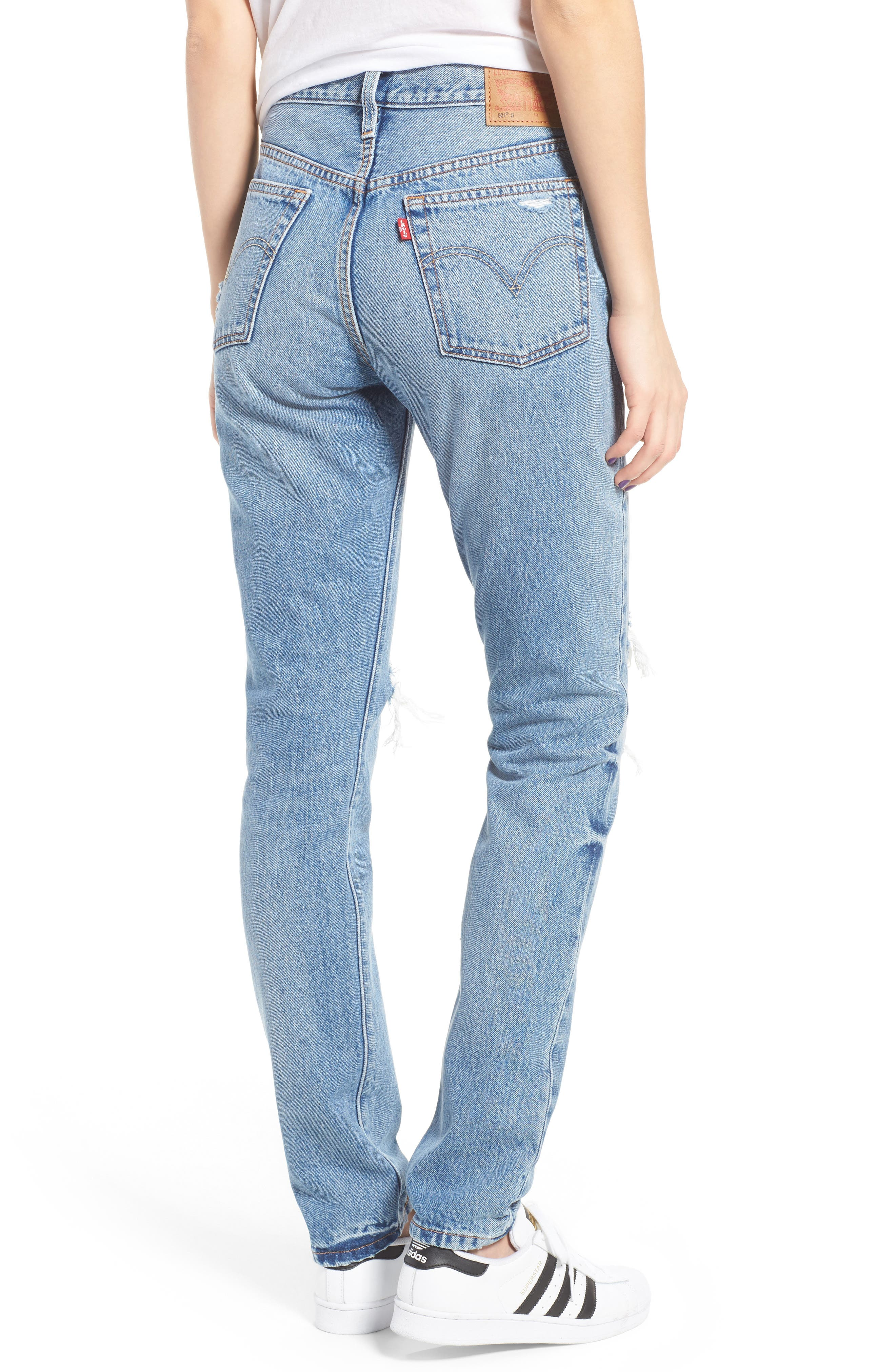LEVI'S<SUP>®</SUP>, Levis<sup>®</sup> 501 Ripped Skinny Jeans, Alternate thumbnail 2, color, 400