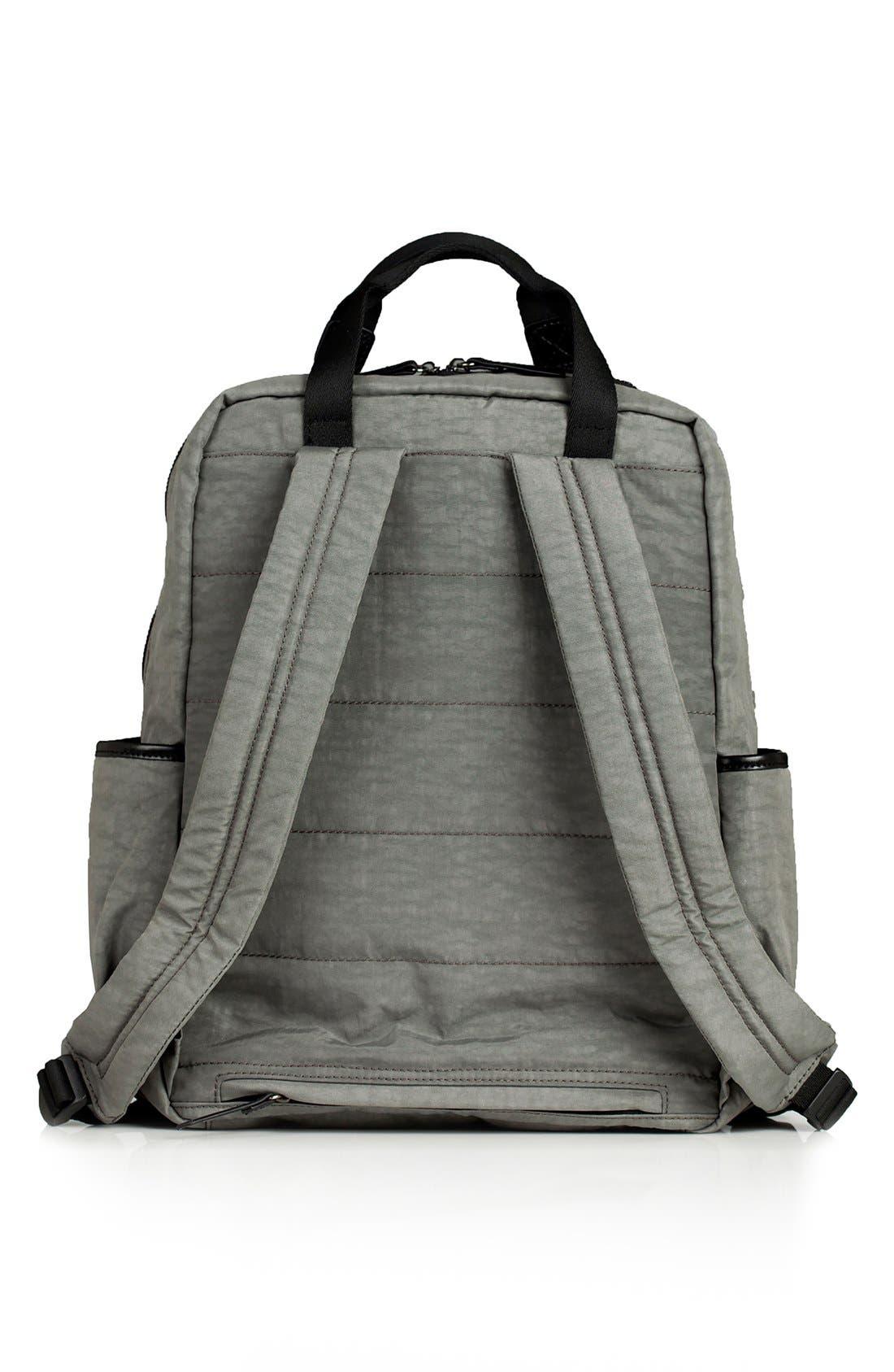 TWELVELITTLE, 'Courage' Unisex Backpack Diaper Bag, Alternate thumbnail 5, color, DARK GREY