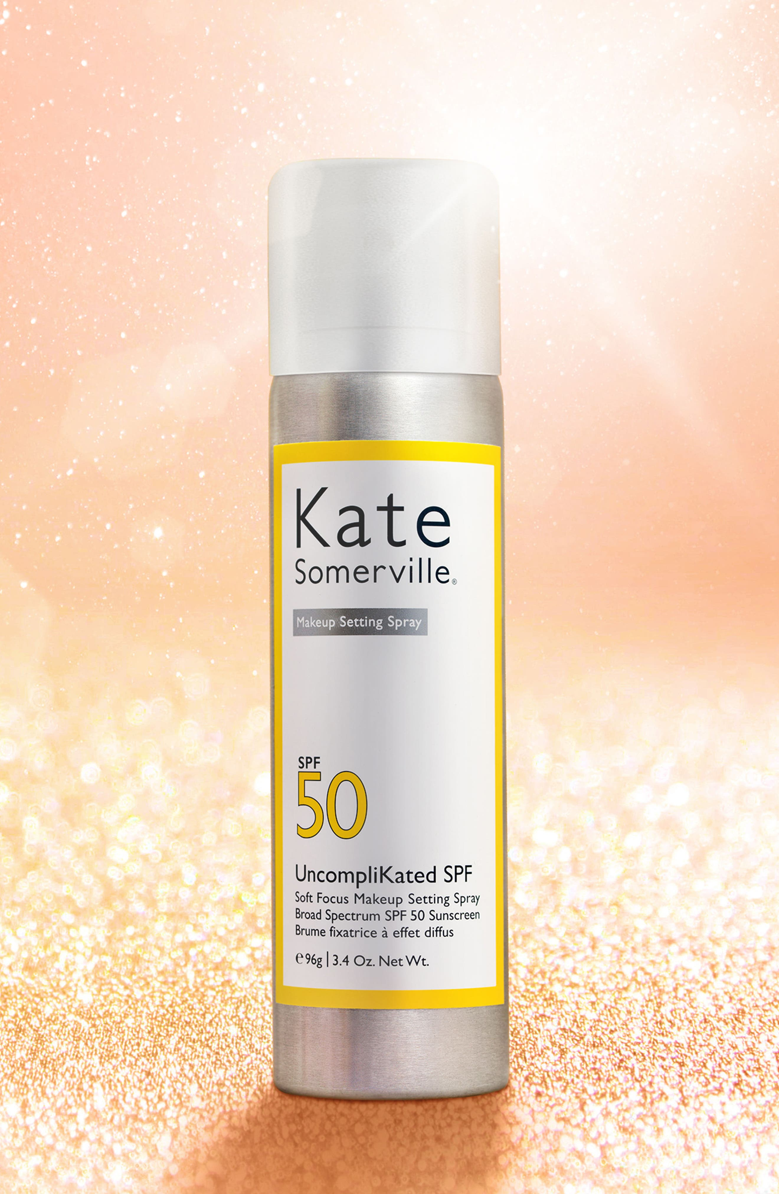 KATE SOMERVILLE<SUP>®</SUP>, UncompliKated SPF Makeup Setting Spray SPF 50, Alternate thumbnail 6, color, NO COLOR