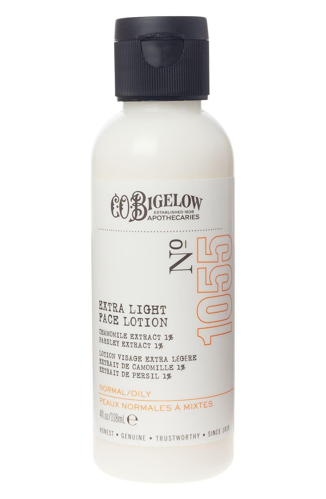 C.O. BIGELOW,  Extra Light Face Lotion, Main thumbnail 1, color, NO COLOR