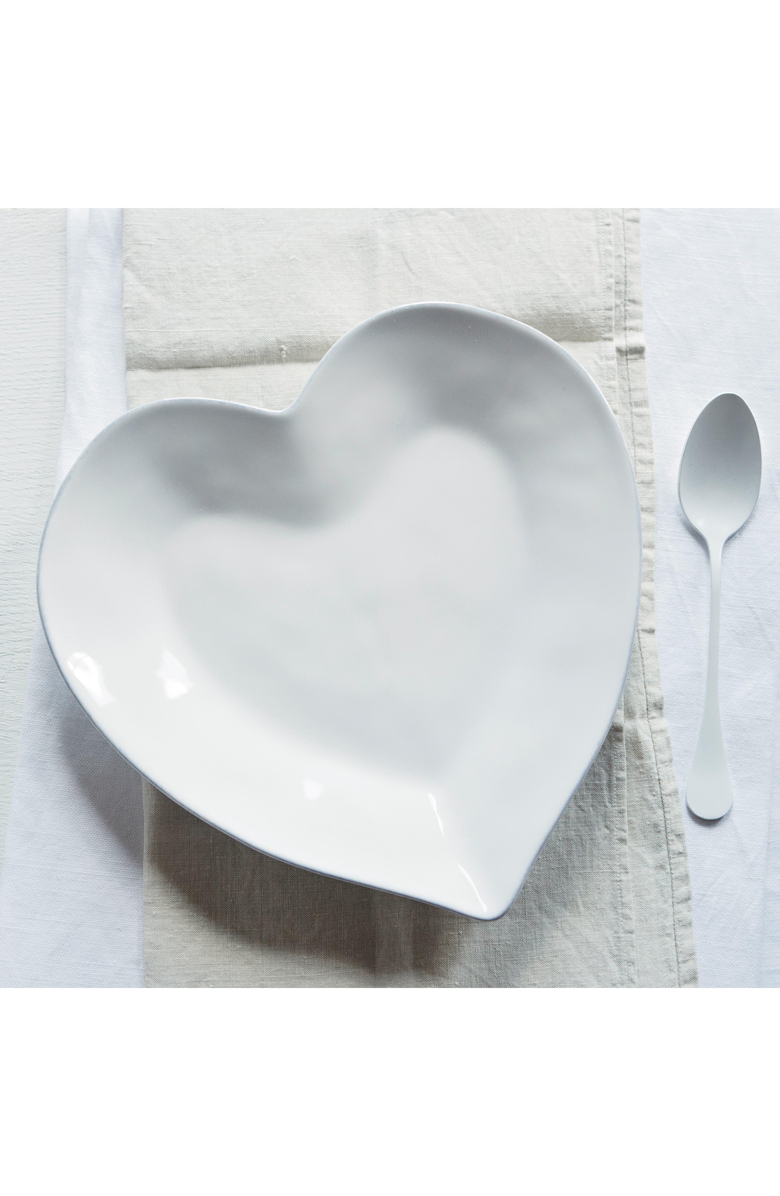 THE WHITE COMPANY Porto Heart Plate, Main, color, 100