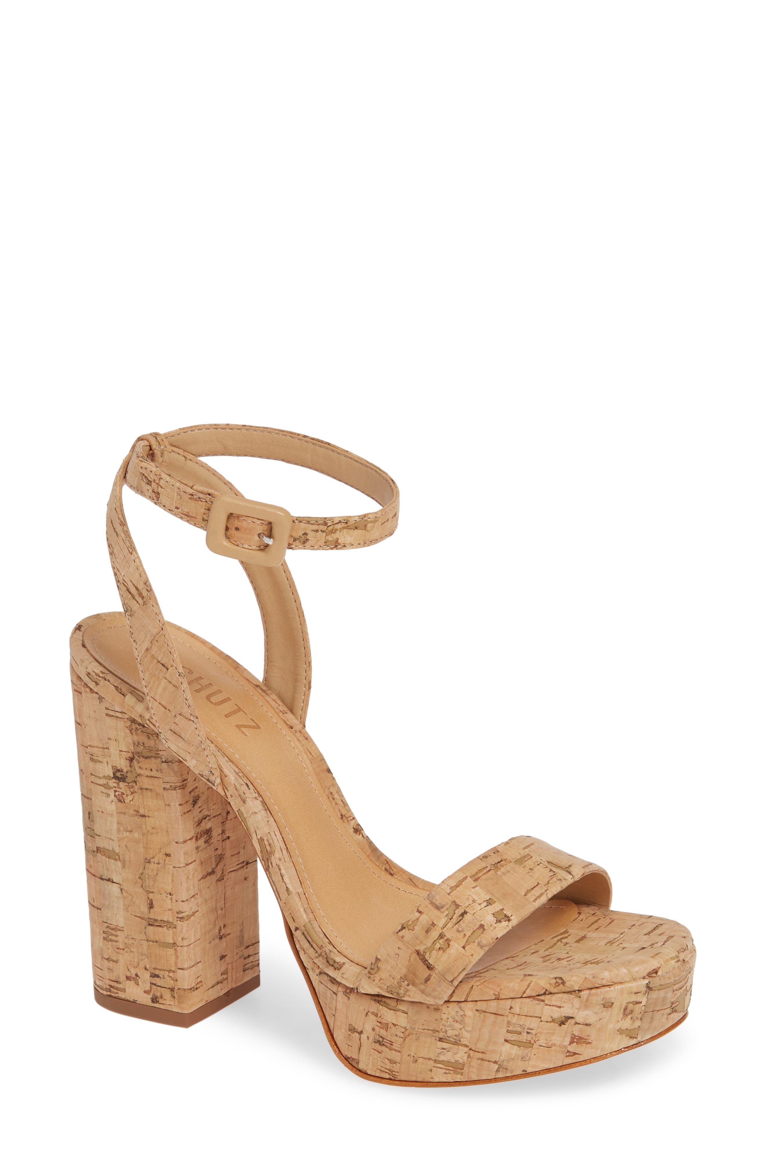 SCHUTZ Martine Platform Sandal, Main, color, NATURAL