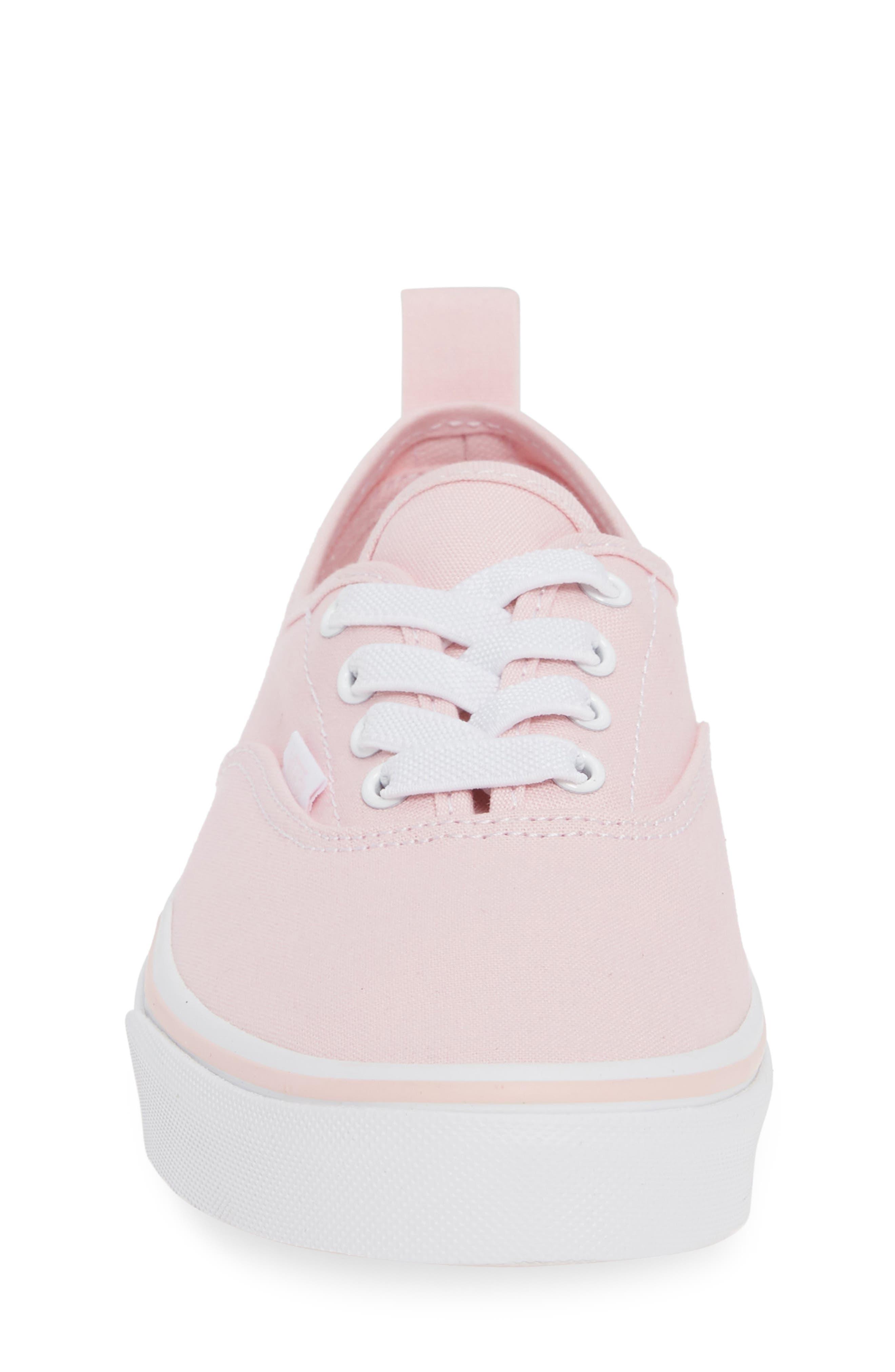 VANS, Authentic Elastic Lace Sneaker, Alternate thumbnail 4, color, CHALK PINK/ TRUE WHITE