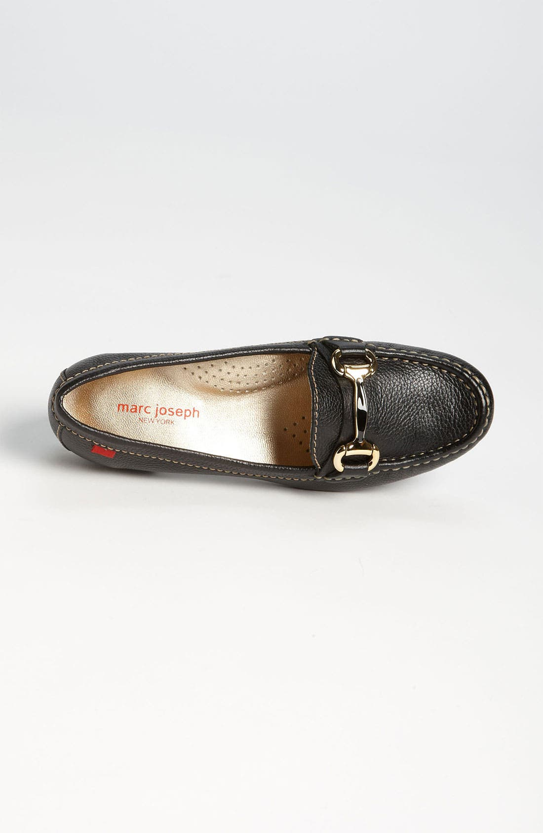 MARC JOSEPH NEW YORK, 'Grand St.' Loafer, Alternate thumbnail 4, color, BLACK GRAINY