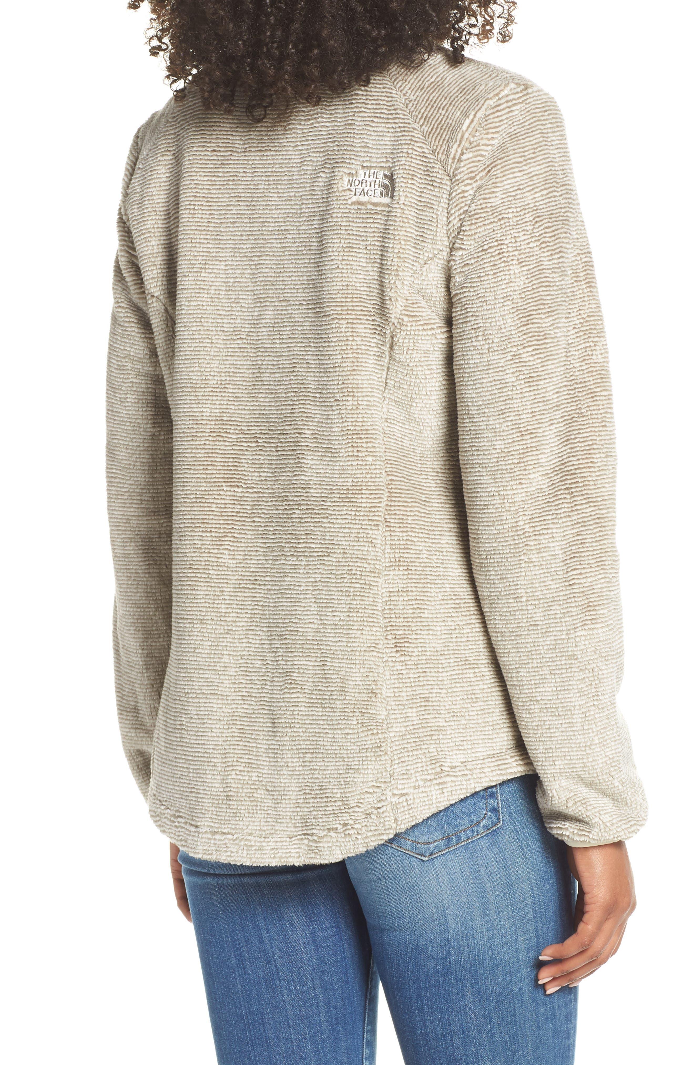 THE NORTH FACE, Osito 2 Stripe Fleece Jacket, Alternate thumbnail 2, color, GREY/ VINTAGE WHITE STRIPE