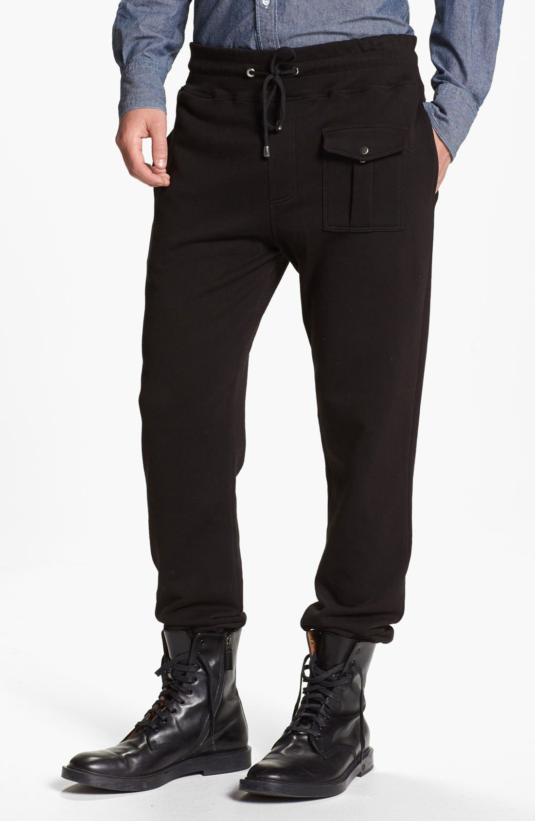 MICHAEL BASTIAN Sweatpants, Main, color, 001