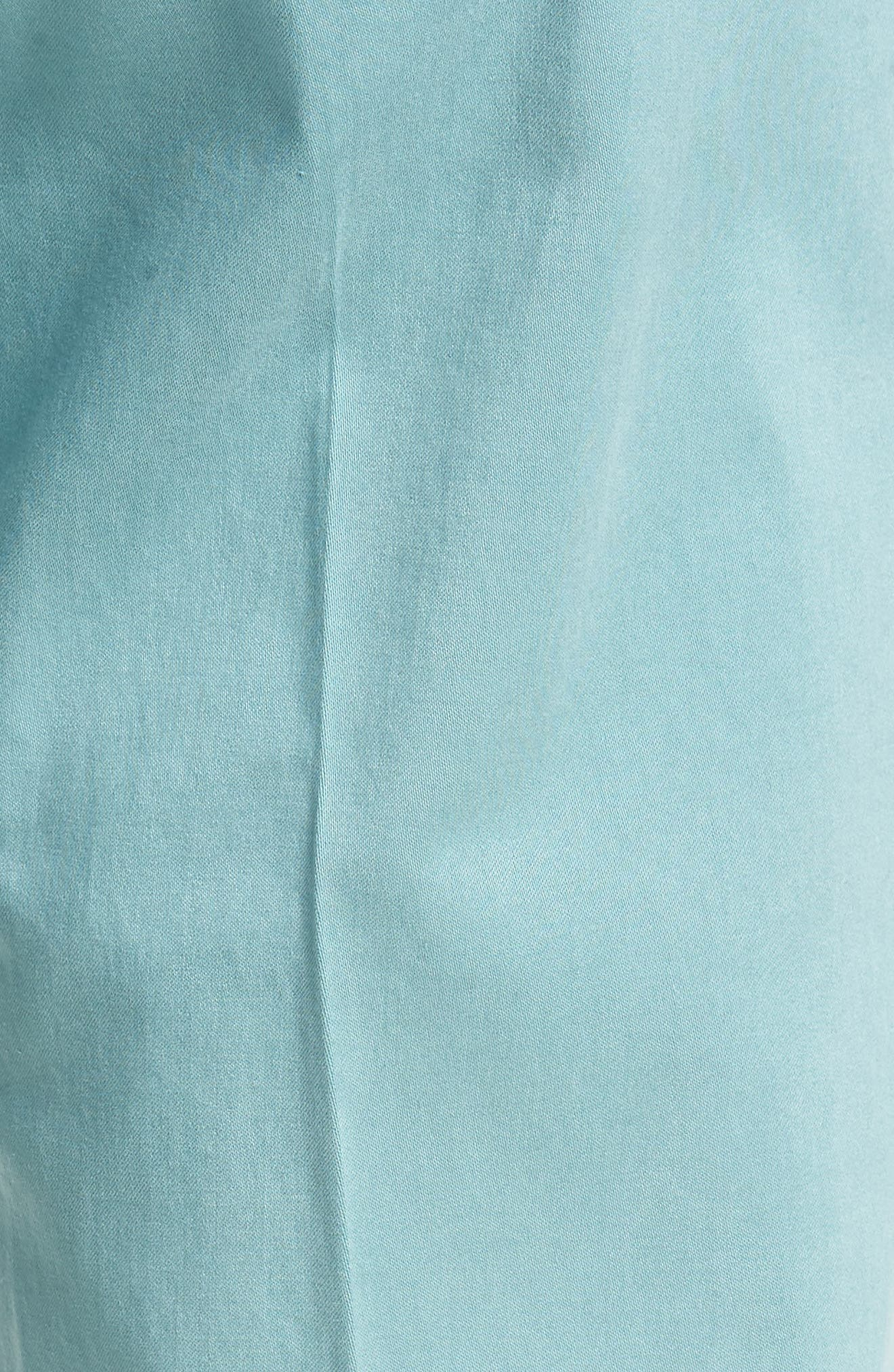 ZACHARY PRELL, Aster Straight Fit Pants, Alternate thumbnail 6, color, TEAL