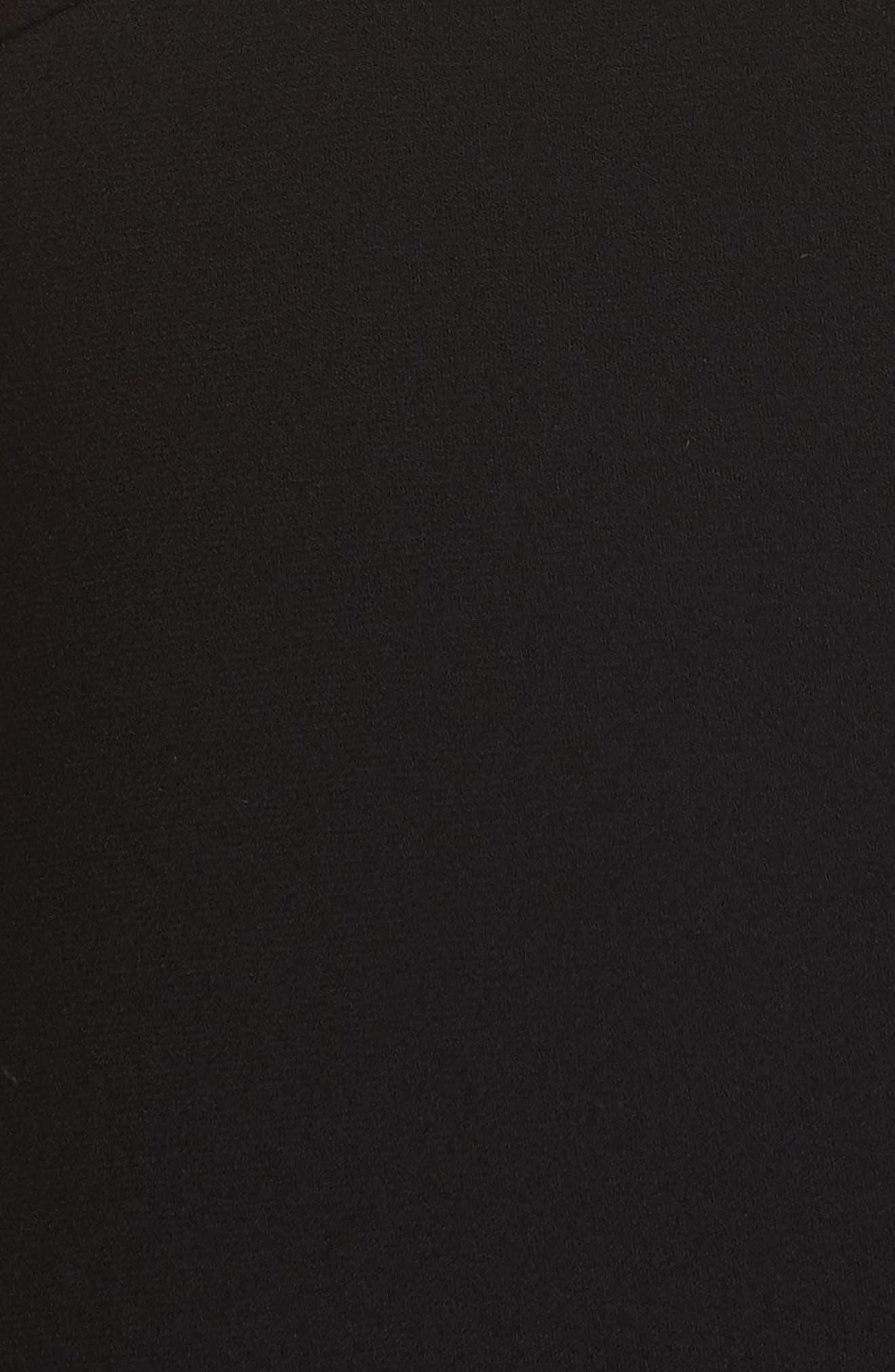 VICTORIA BECKHAM, Back Zip Body-Con Dress, Alternate thumbnail 6, color, BLACK