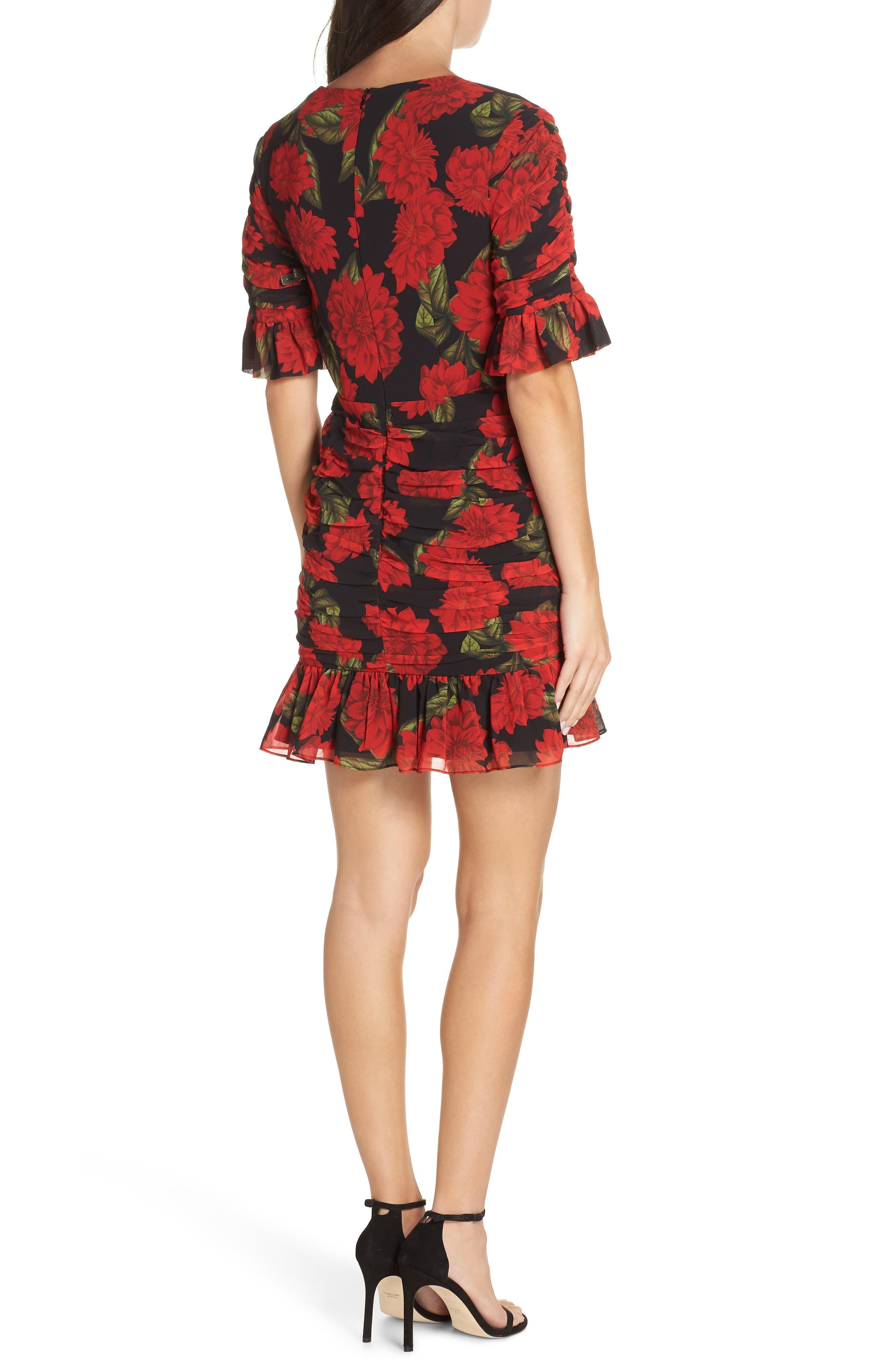 KEEPSAKE THE LABEL, Find You Floral Dress, Alternate thumbnail 2, color, 001